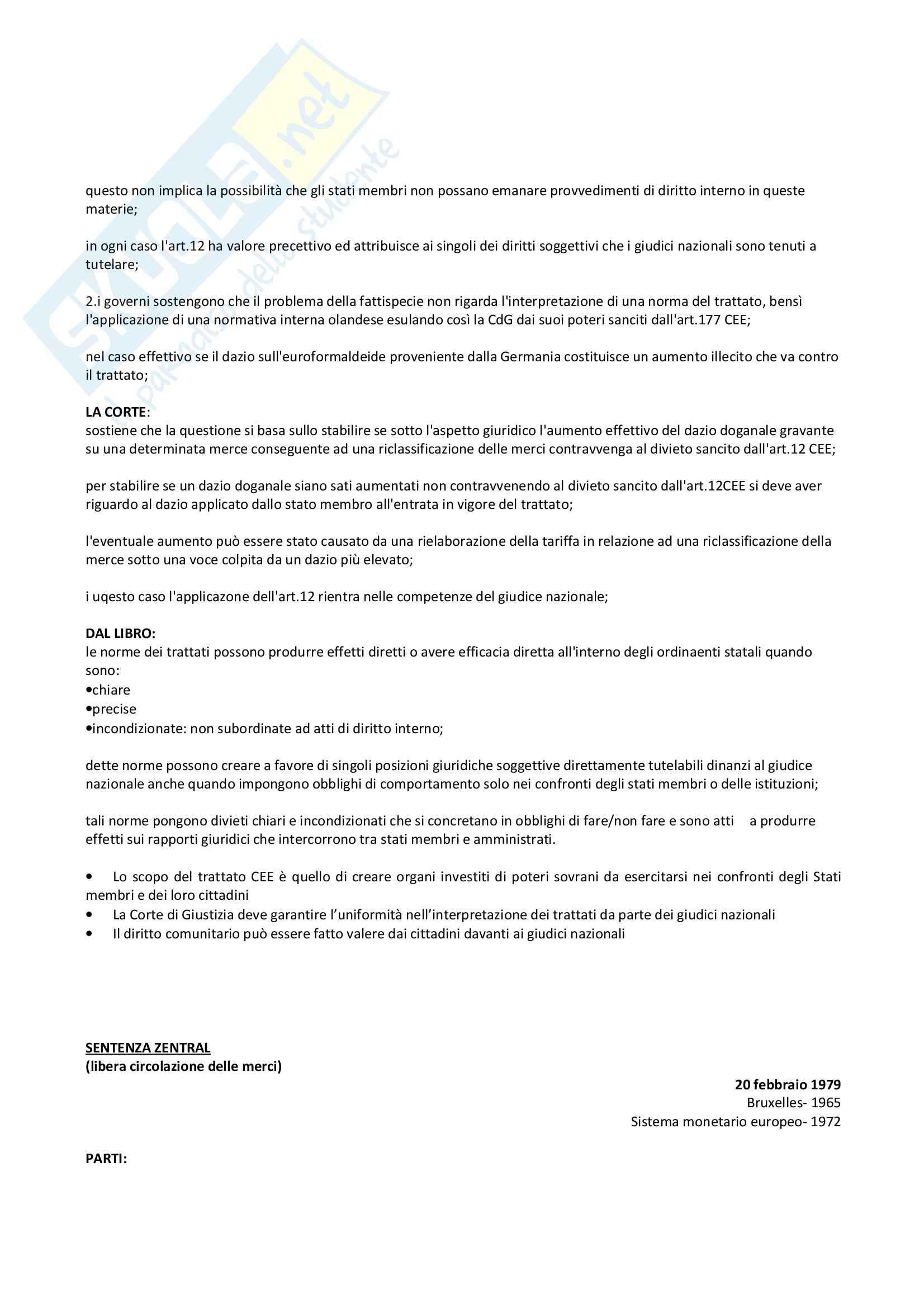 Diritto europeo - sentenze corte di giustizia (UE) Pag. 2