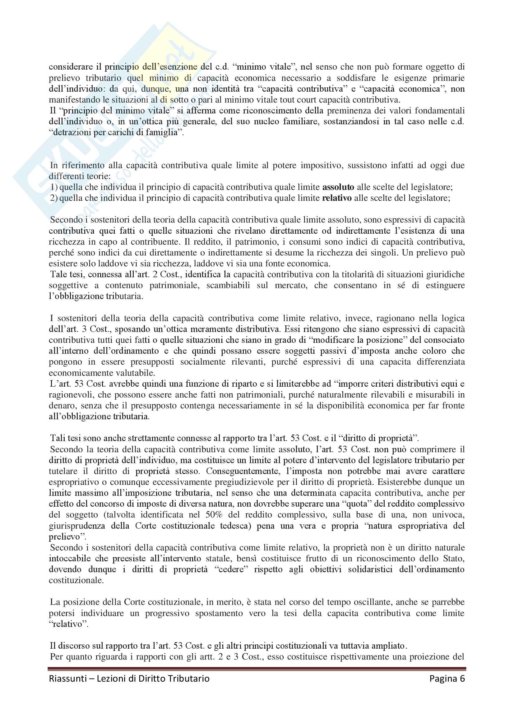 """Riassunto esame Diritto Tributario, Docente G. Melis, libro consigliato """"Lezioni di diritto tributario"""" di G. Melis Pag. 6"""