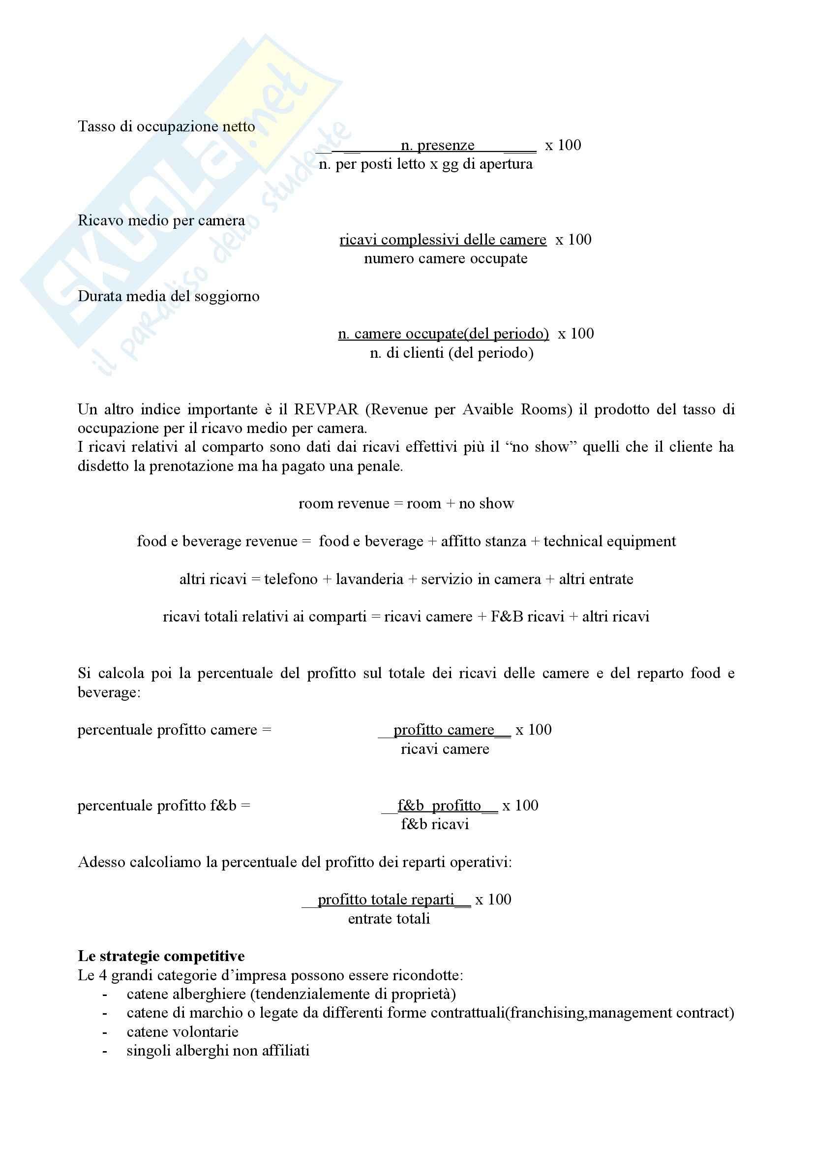 Economia e gestione delle aziende turistiche - Appunti Pag. 16