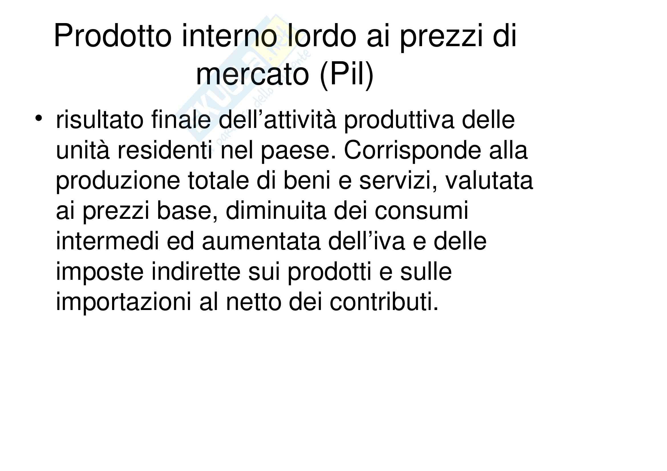 Economia italiana ed europea - Appunti