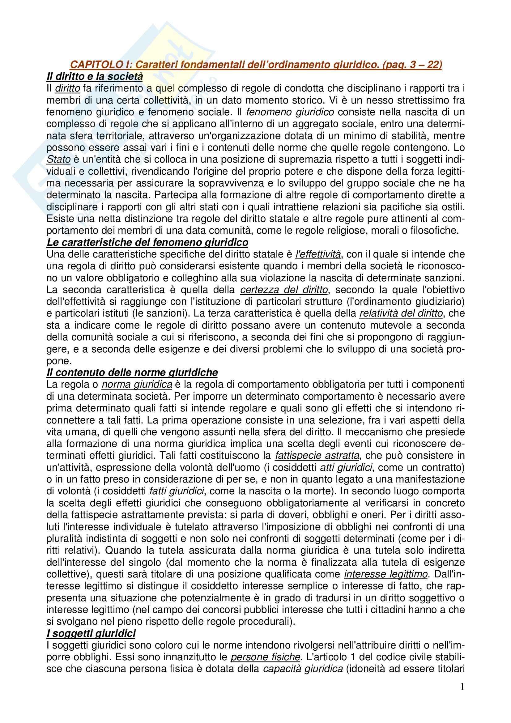 Diritto costituzionale - Riassunto esame, prof. Girelli
