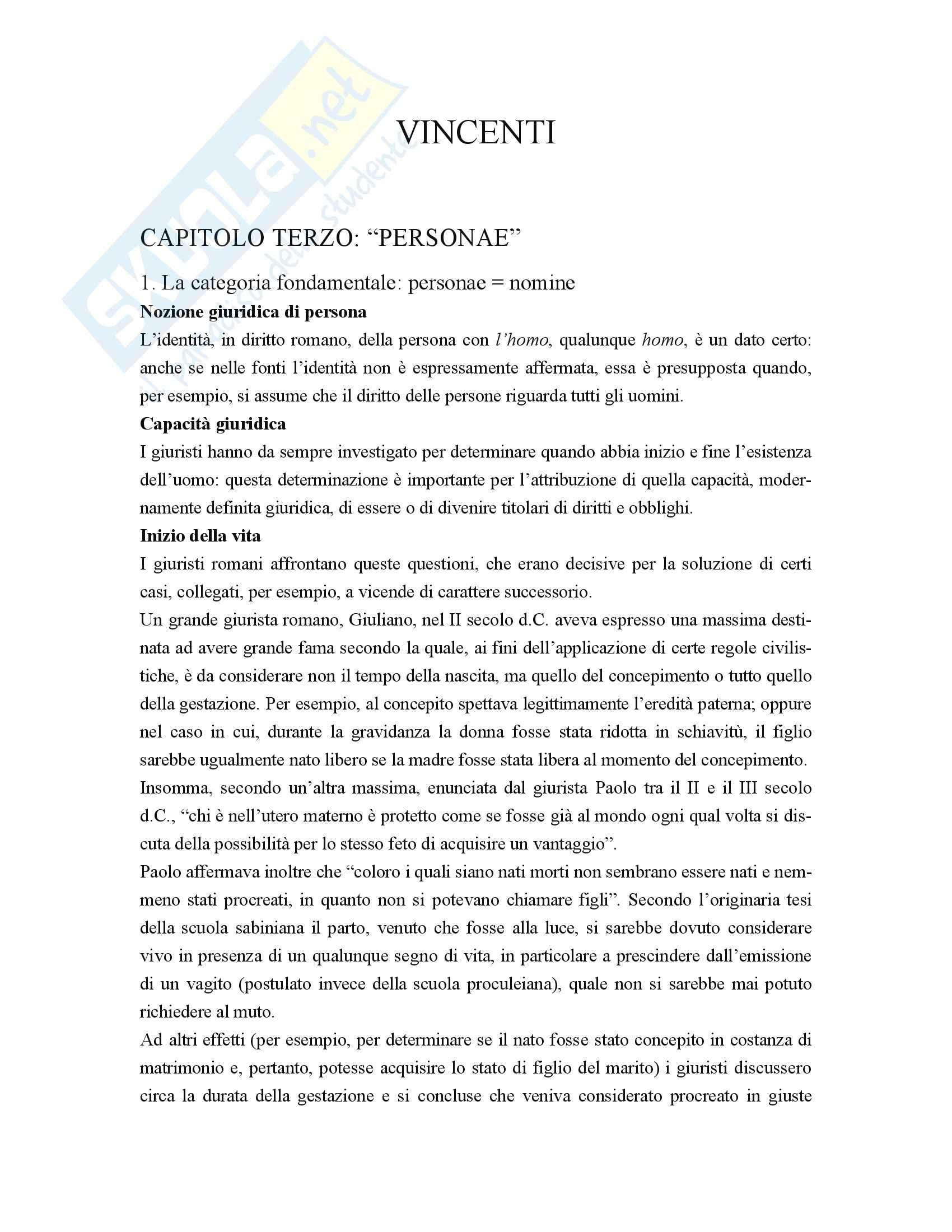 Diritto romano - Vincenti