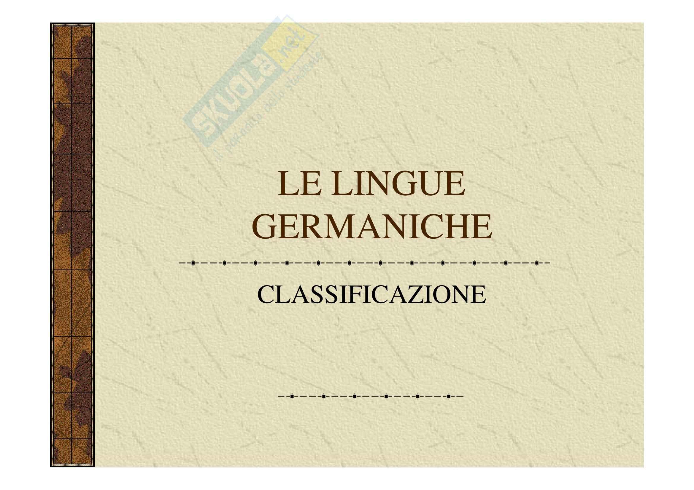 Linguistica germanica - lingue