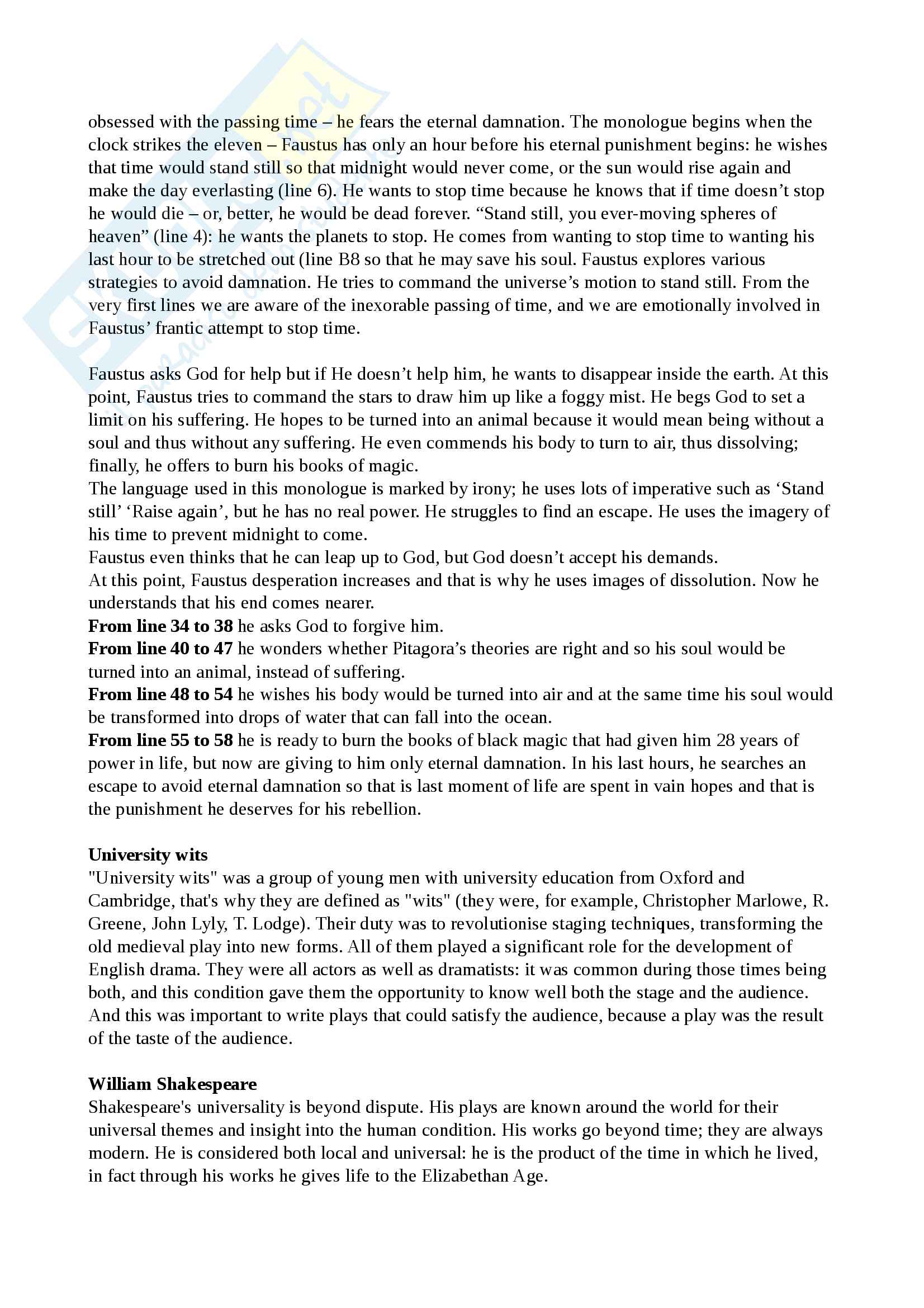 Riassunto esame Cultura e Letteratura Inglese I, prof Polopoli, libro consigliato English Literature. A short history, Bertinetti Pag. 11