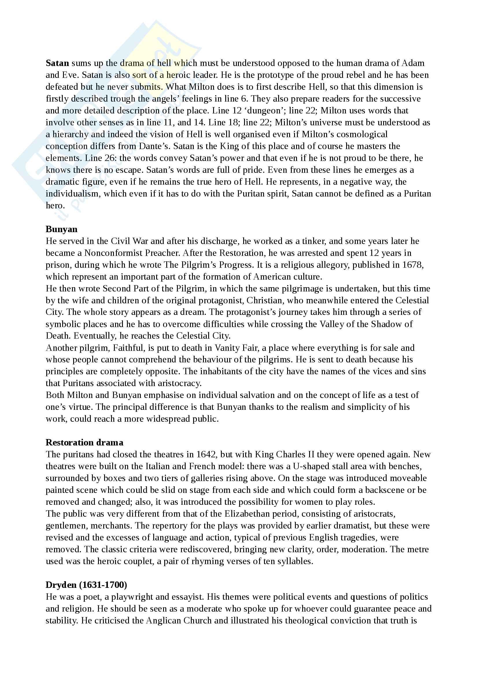Riassunto esame Cultura e Letteratura Inglese I, prof Polopoli, libro consigliato English Literature. A short history, Bertinetti Pag. 21