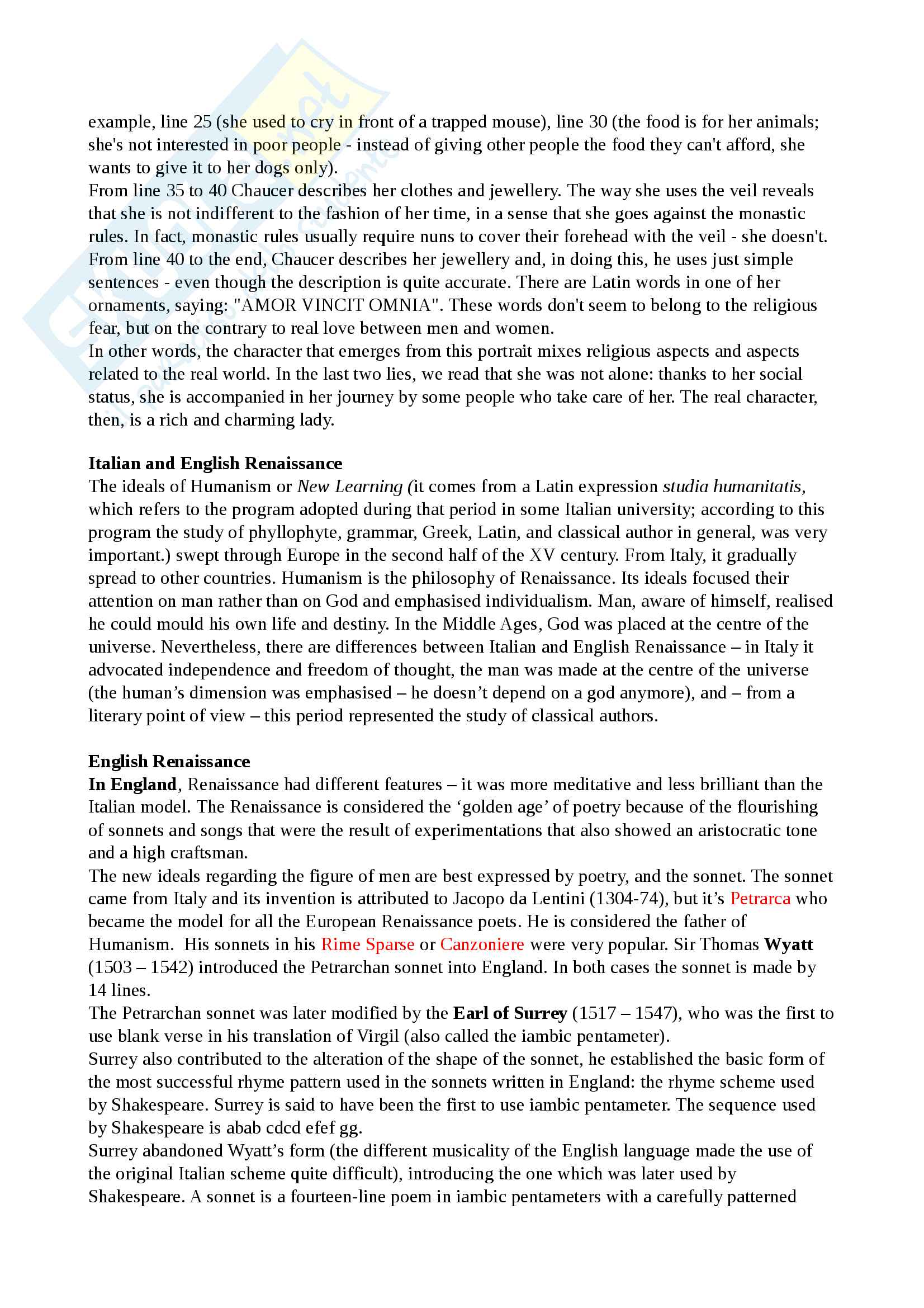 Riassunto esame Cultura e Letteratura Inglese I, prof Polopoli, libro consigliato English Literature. A short history, Bertinetti Pag. 6