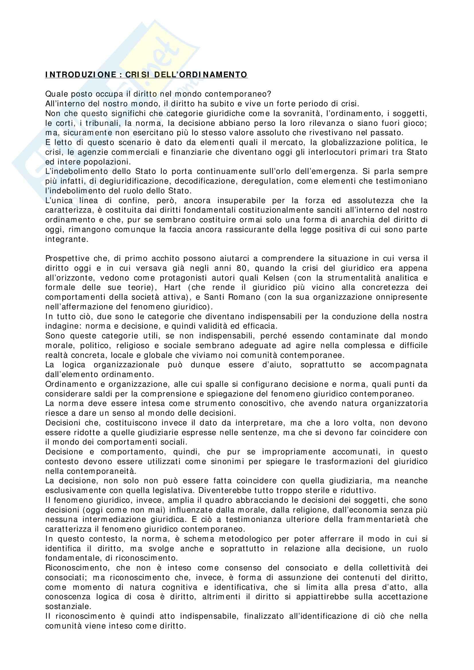 Riassunto esame Teoria del Diritto, prof. Catania, libro consigliato Metamorfosi del Diritto, Catania