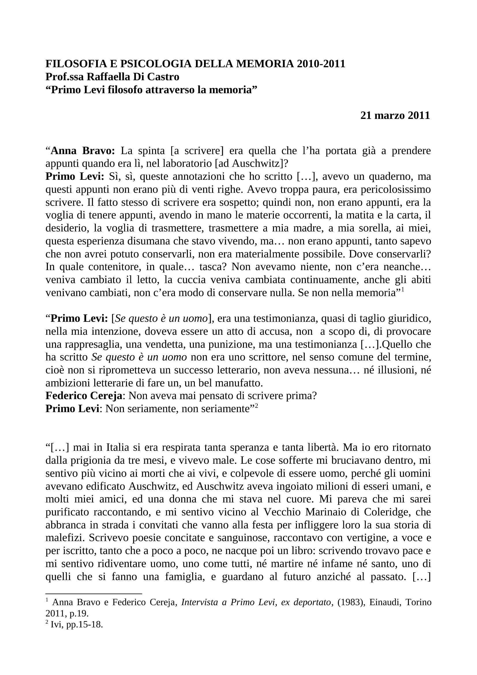 dispensa R. Di Castro Psicologia sociale