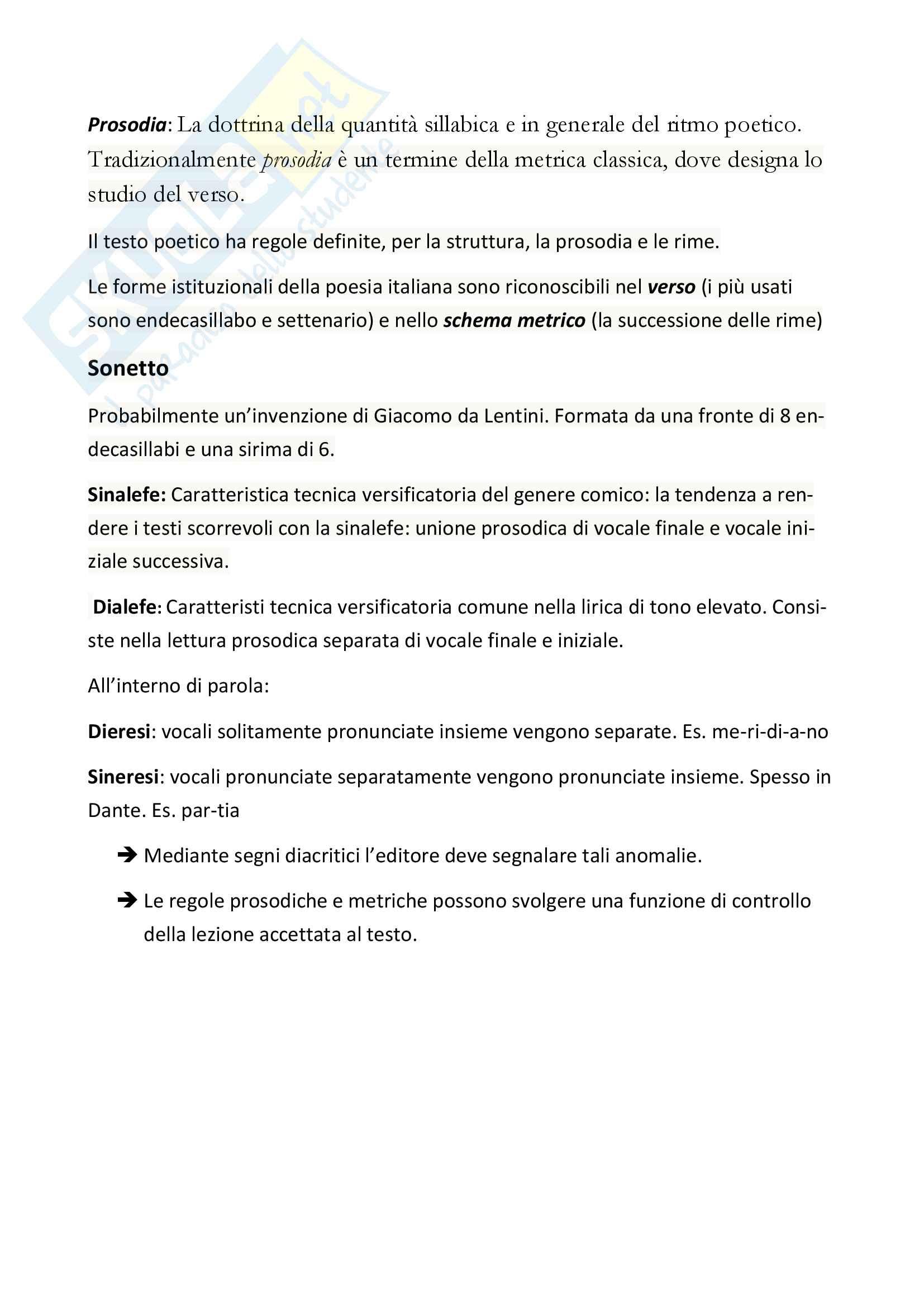 Riassunto esame filologia italiana, prof. Zaccarello, libro consigliato: L'edizione critica del testo letterario Pag. 16