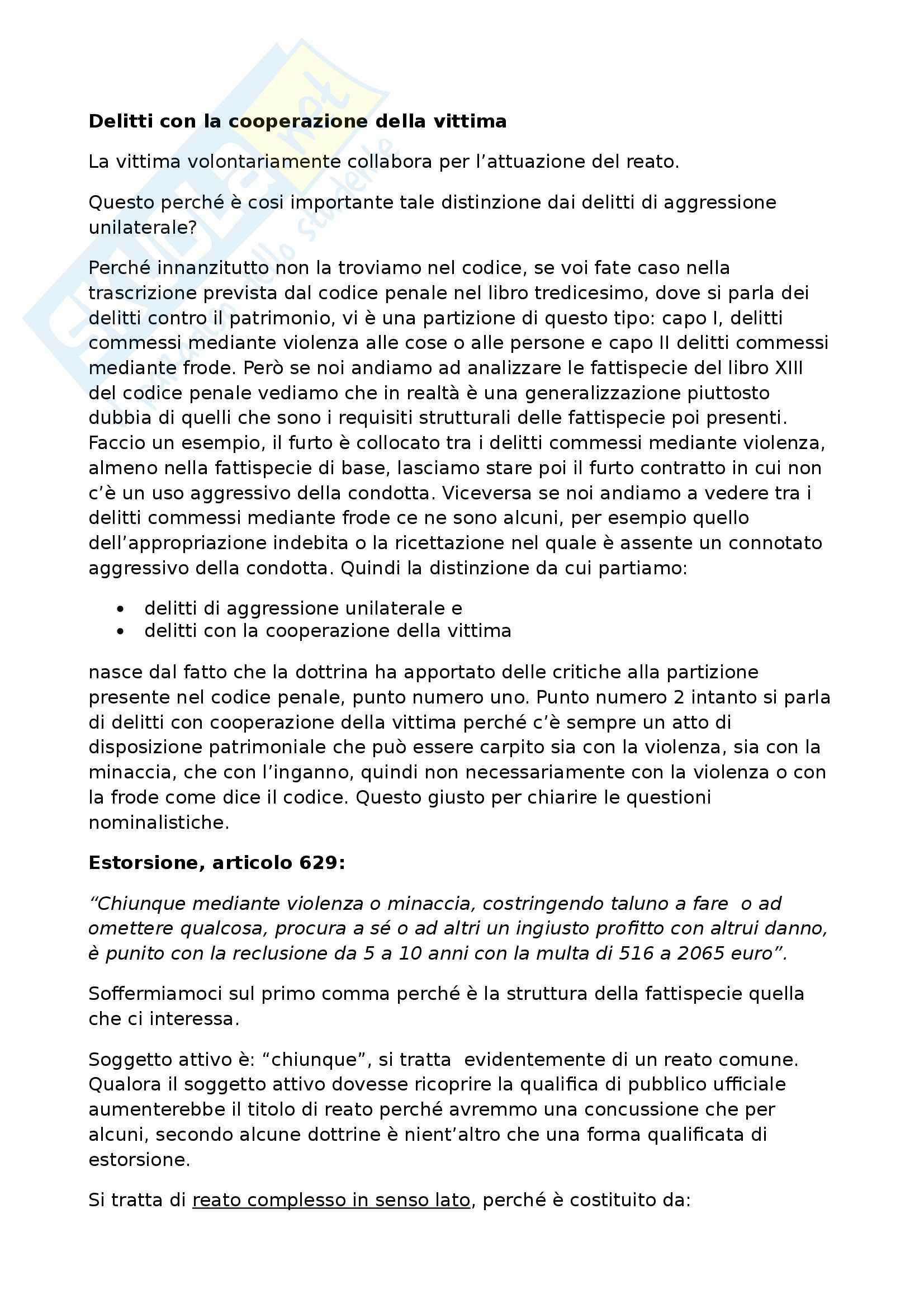 Diritto penale progredito - Lezione 1 sul seminario sui delitti con la cooperazione della vittima