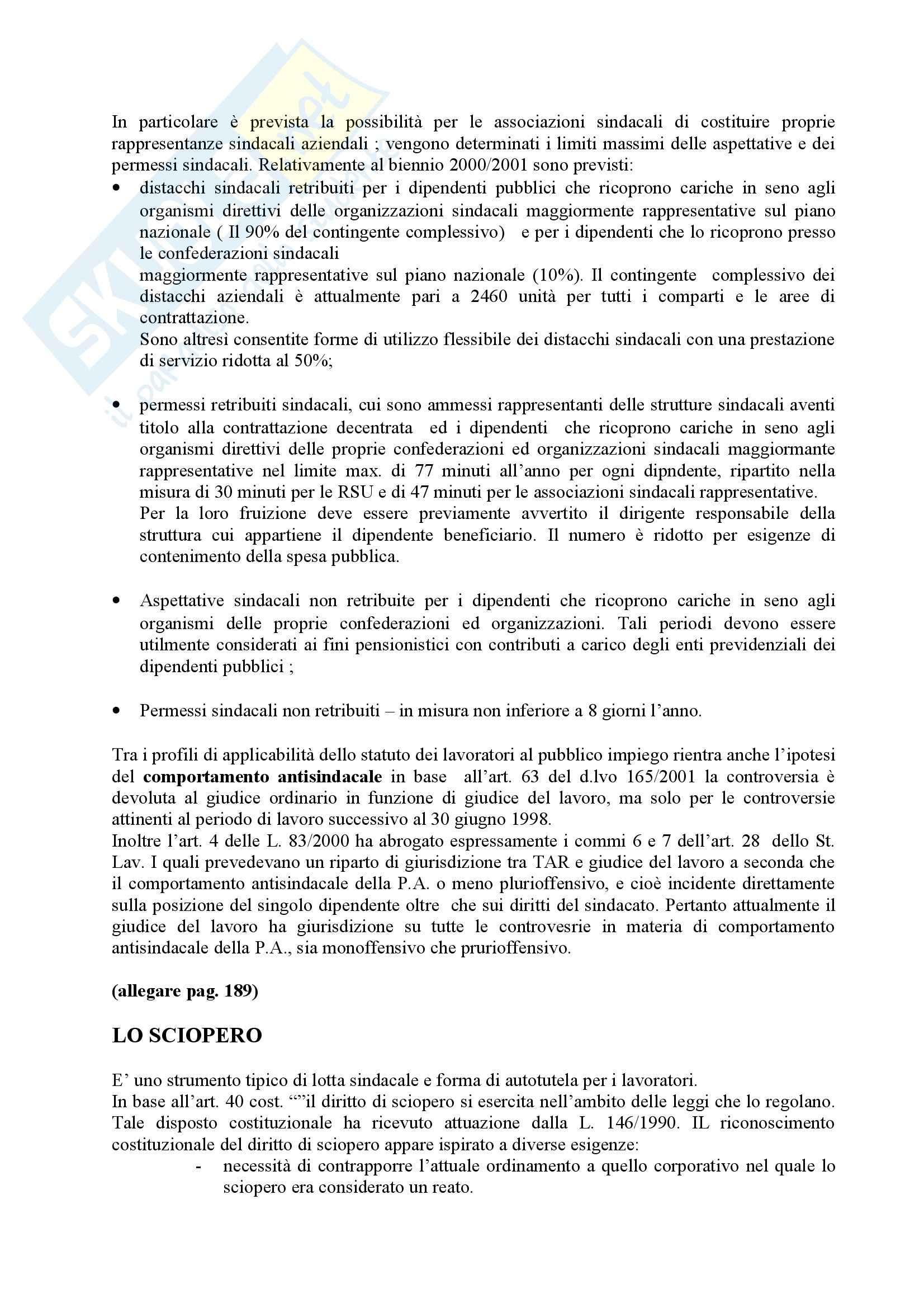 Diritto sindacale - l'organizzazione sindacale Pag. 46