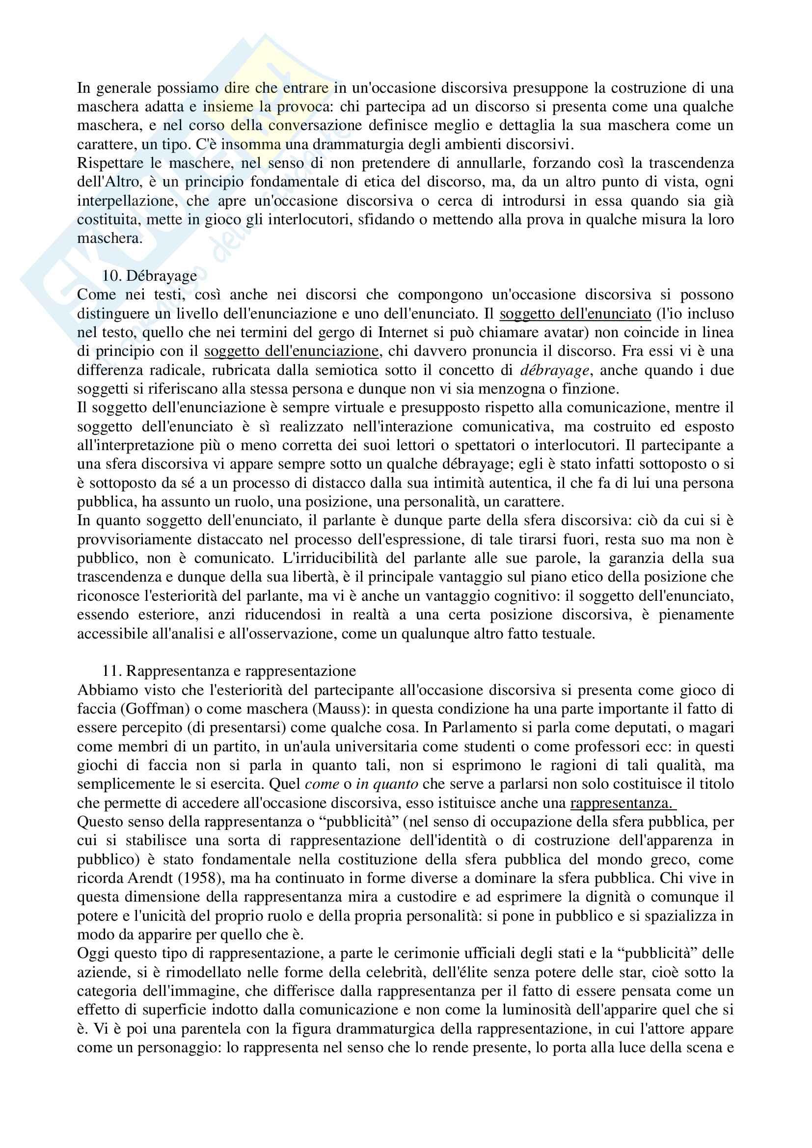 Riassunto esame filosofia della comunicazione, prof. Volli, libro consigliato Lezioni di filosofia della comunicazione, Volli Pag. 6