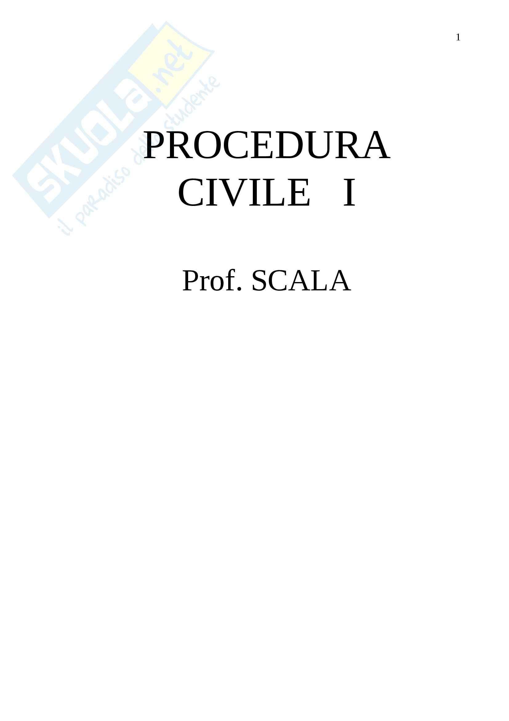 Procedura Civile- Appunti