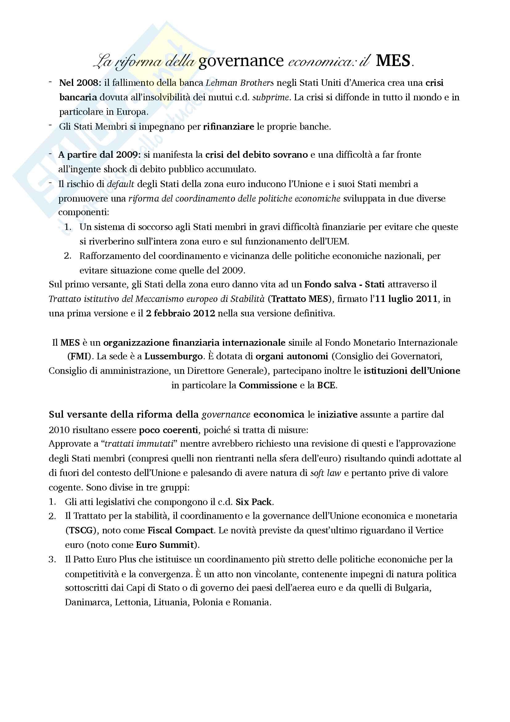 Riassunto esame di Diritto dell'Unione Europea Pag. 11