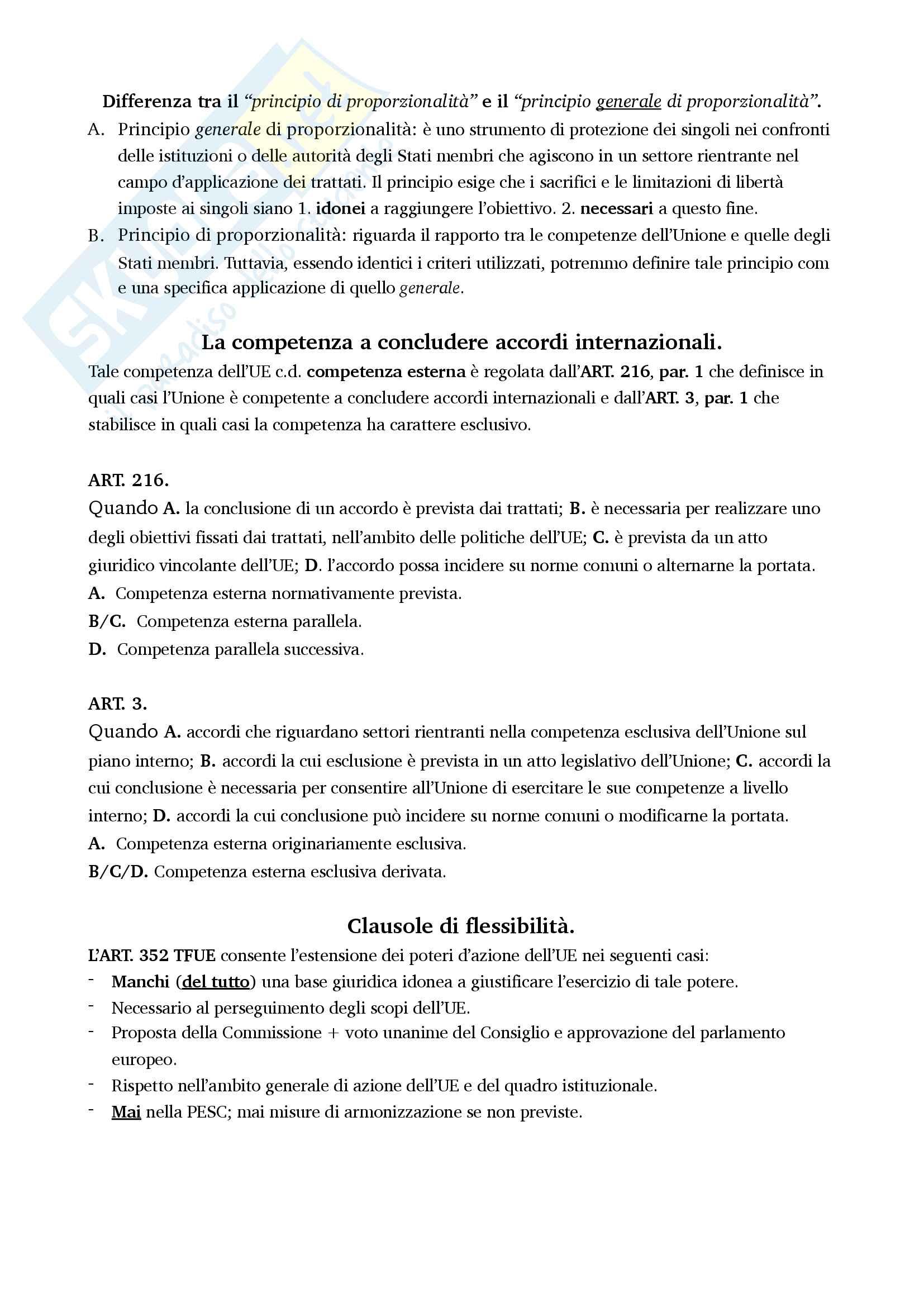 Riassunto esame di Diritto dell'Unione Europea Pag. 36