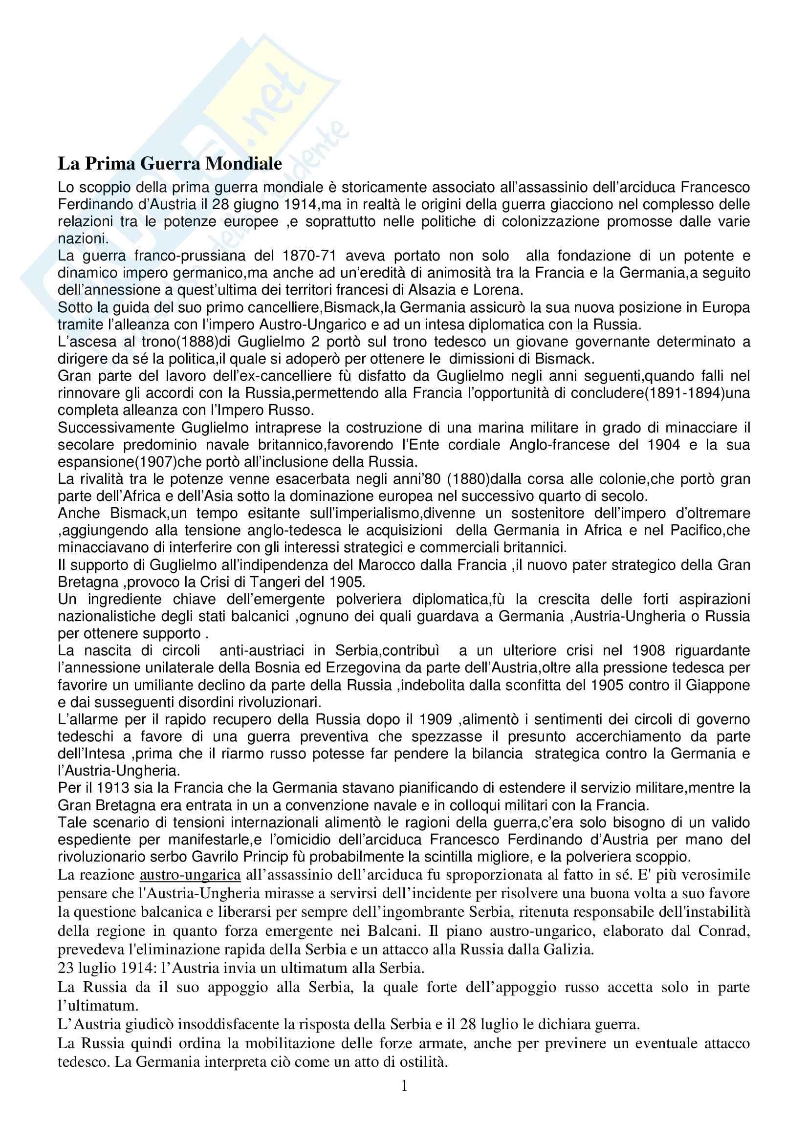 appunto G. Sabbatucci Storia Contemporanea