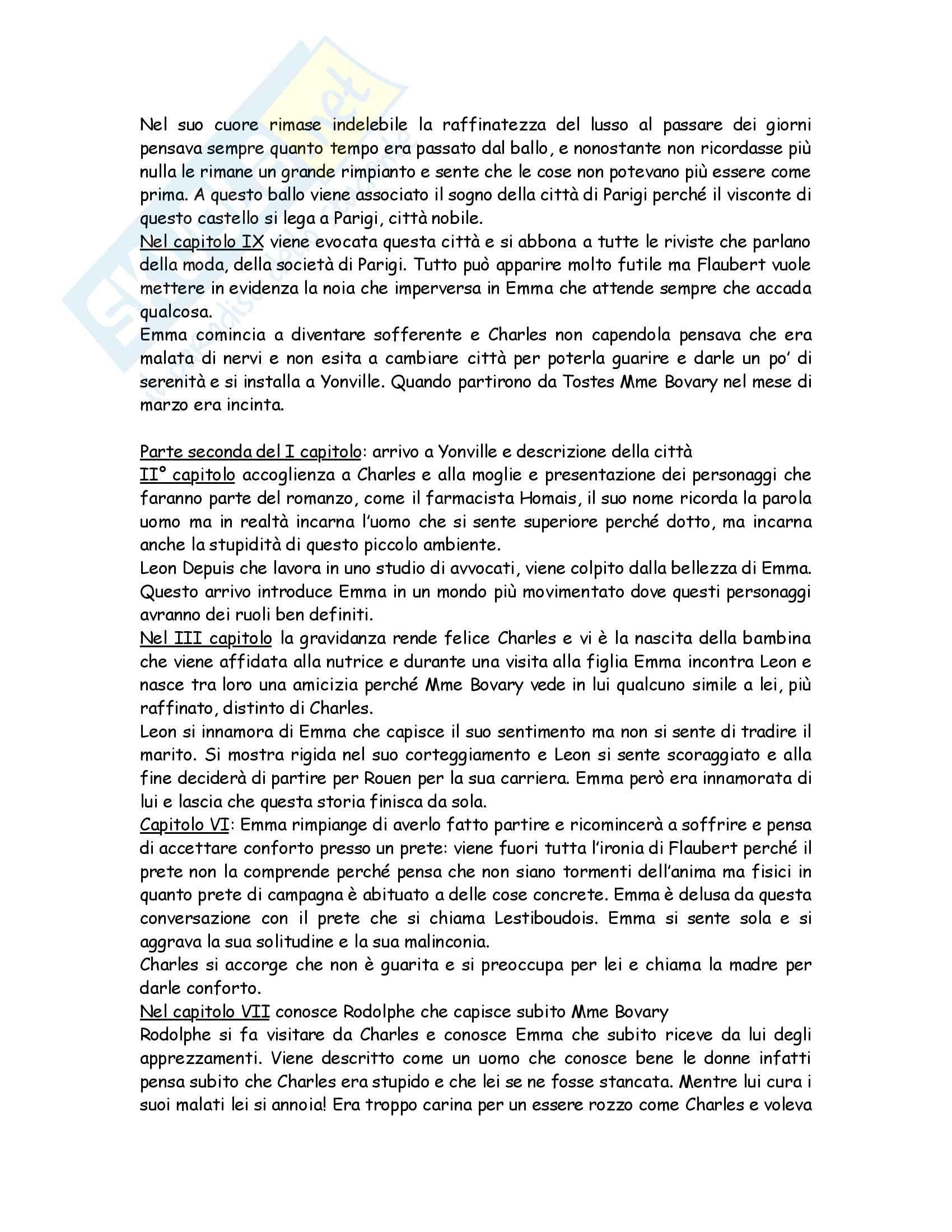 Letteratura francese - Madame Bovary, Ottocento e Novecento Pag. 46