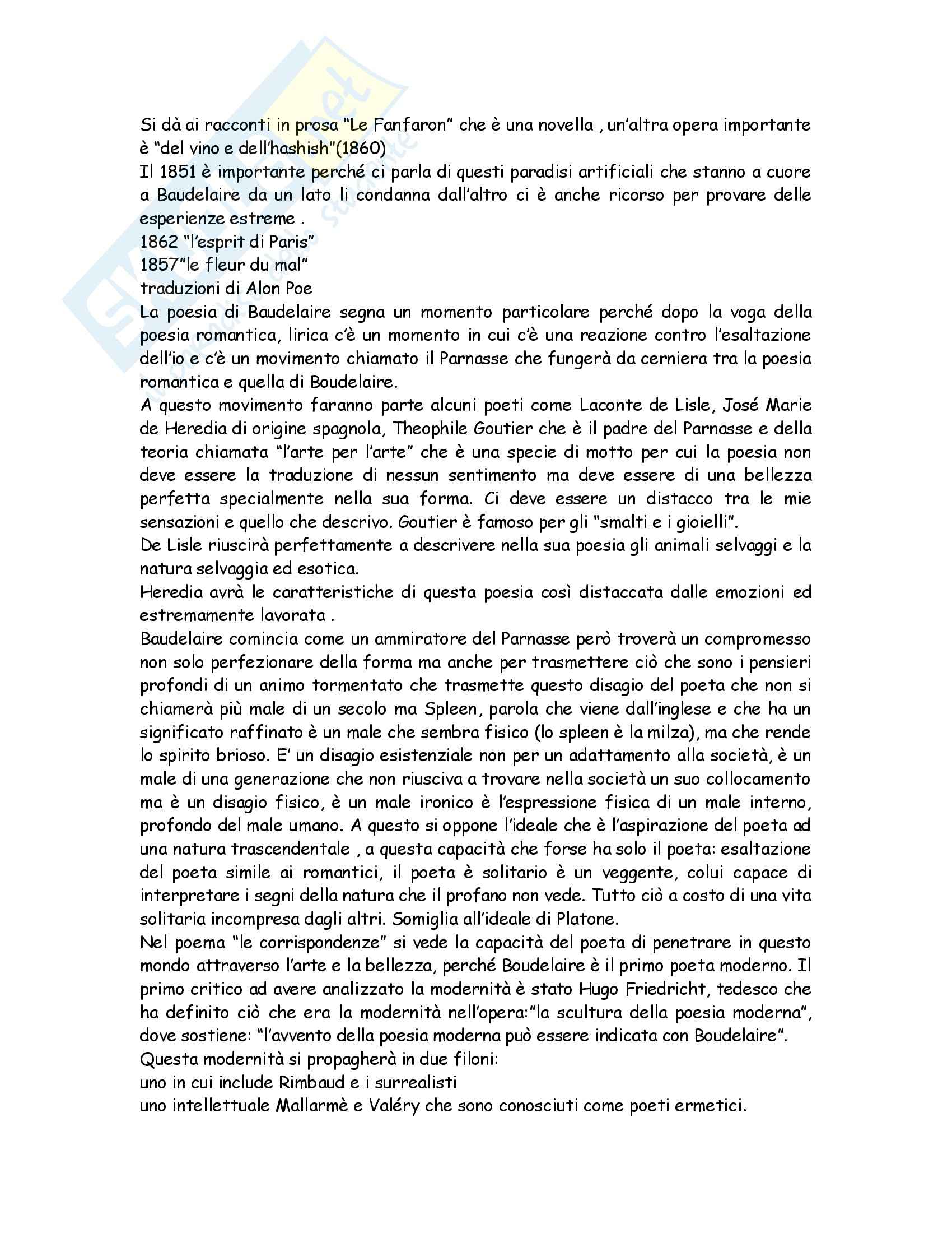 Letteratura francese - Madame Bovary, Ottocento e Novecento Pag. 51