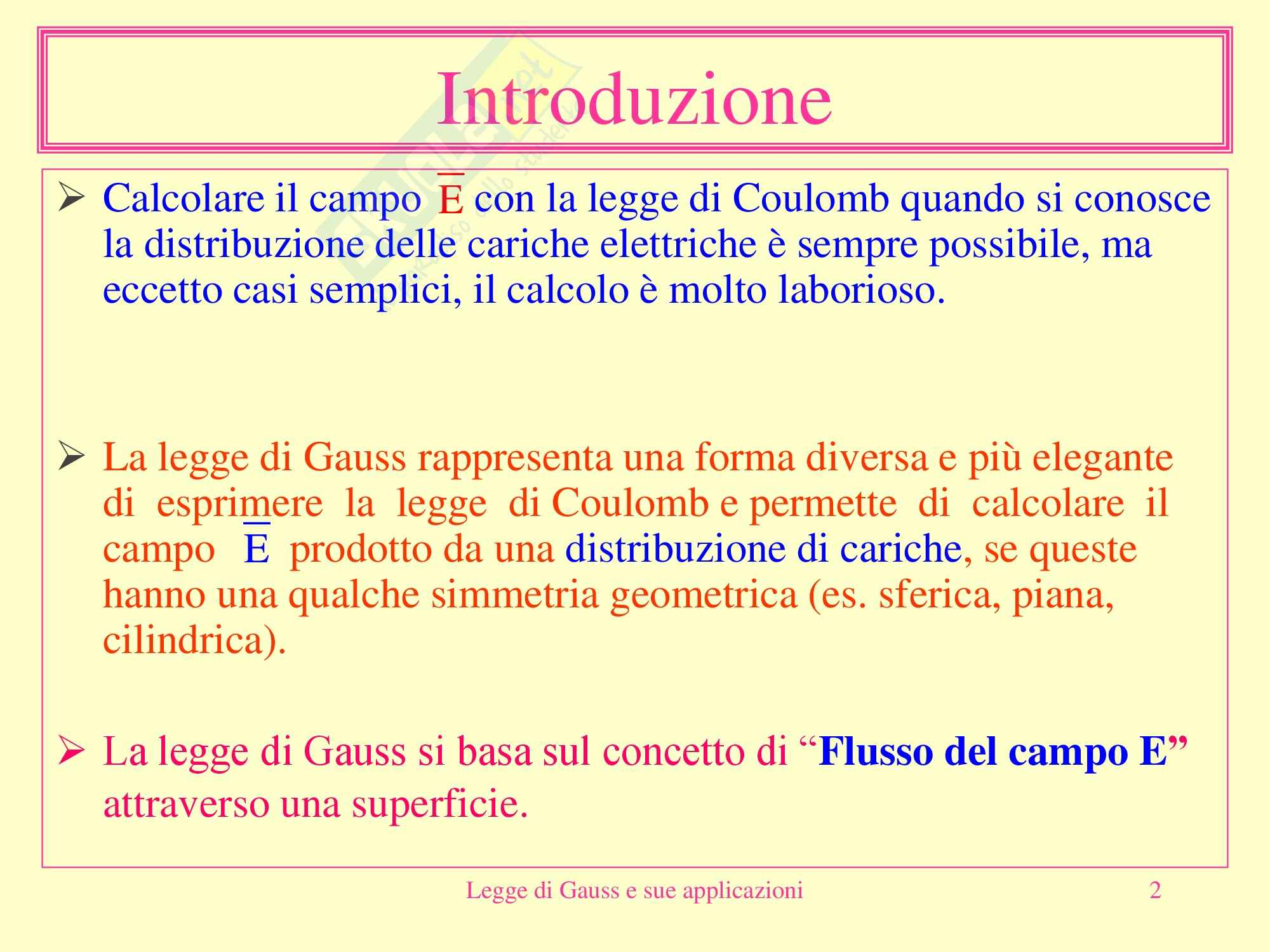 Fisica medica - Legge di Gauss Pag. 2