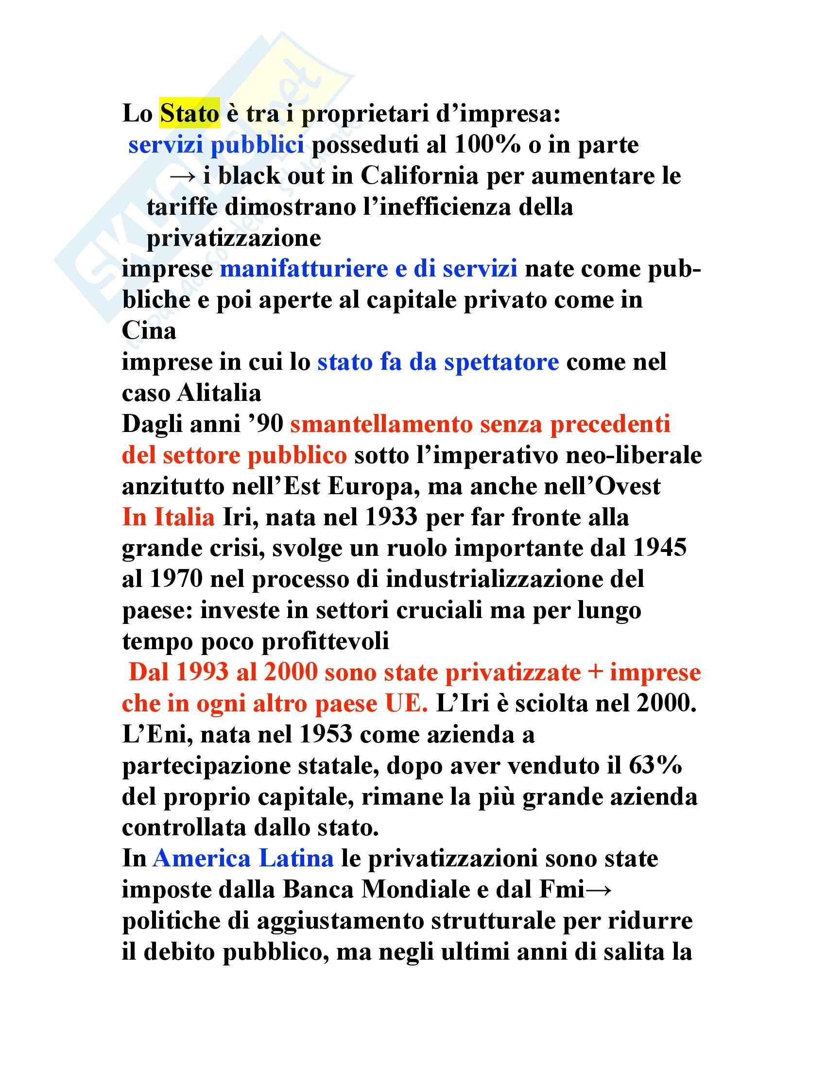 Riassunto esame Sociologia, prof. indefinito, libro consigliato L'Impresa Irresponsabile, Gallino Pag. 6