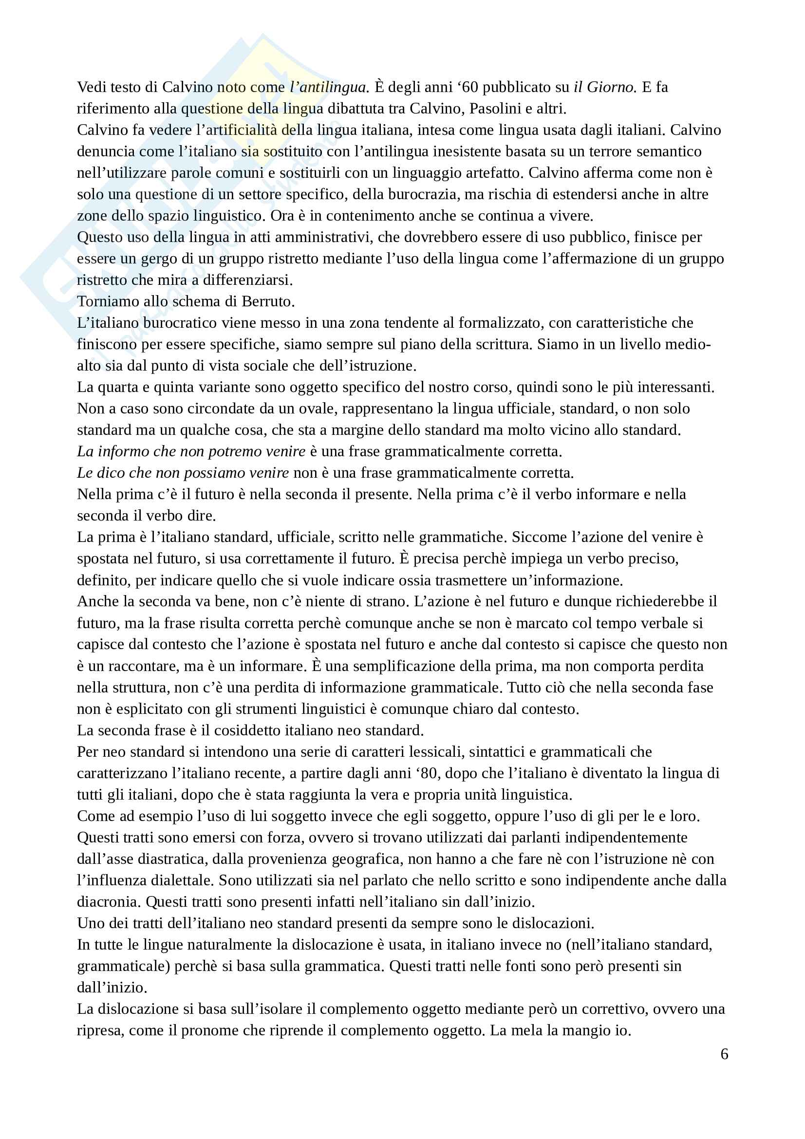 Appunti Grammatica Italiana, prof M. Biffi Pag. 6