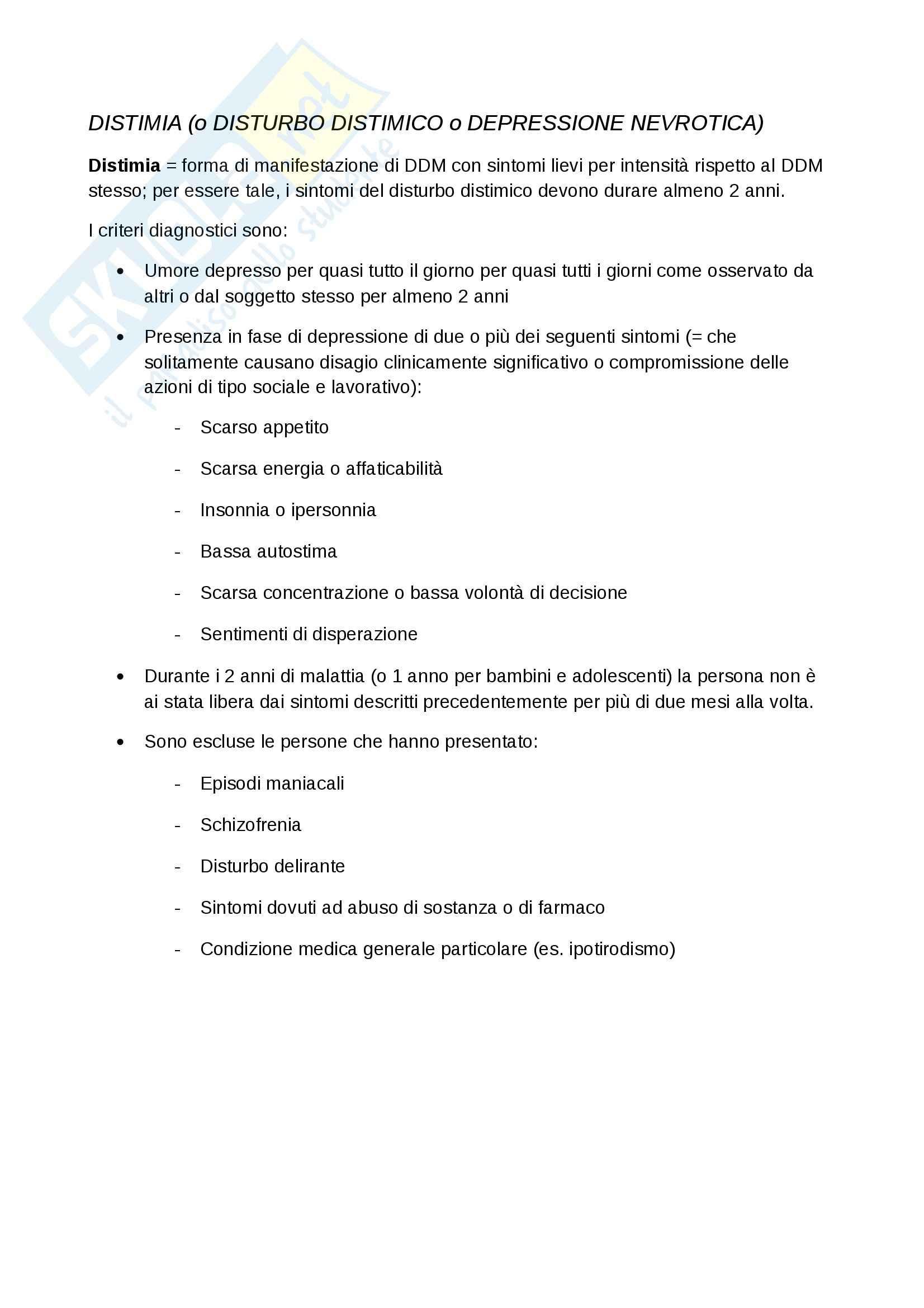 Lezioni, Psichiatria Pag. 16