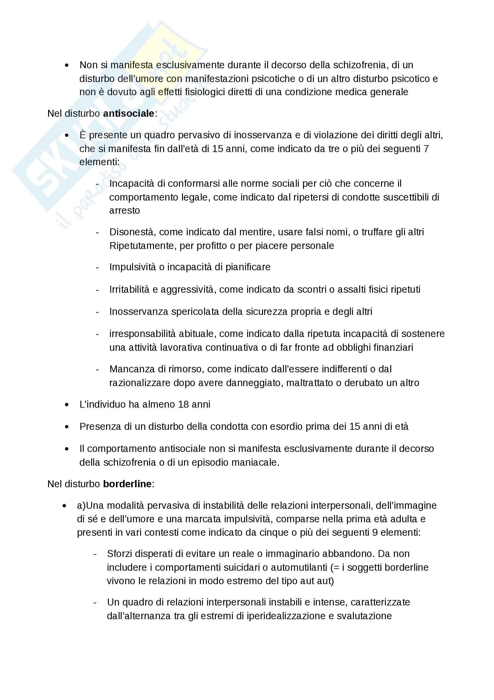 Lezioni, Psichiatria Pag. 21