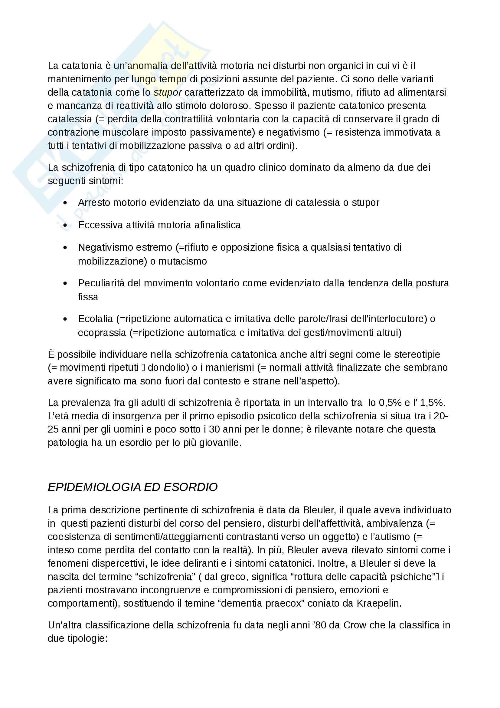 Lezioni, Psichiatria Pag. 6