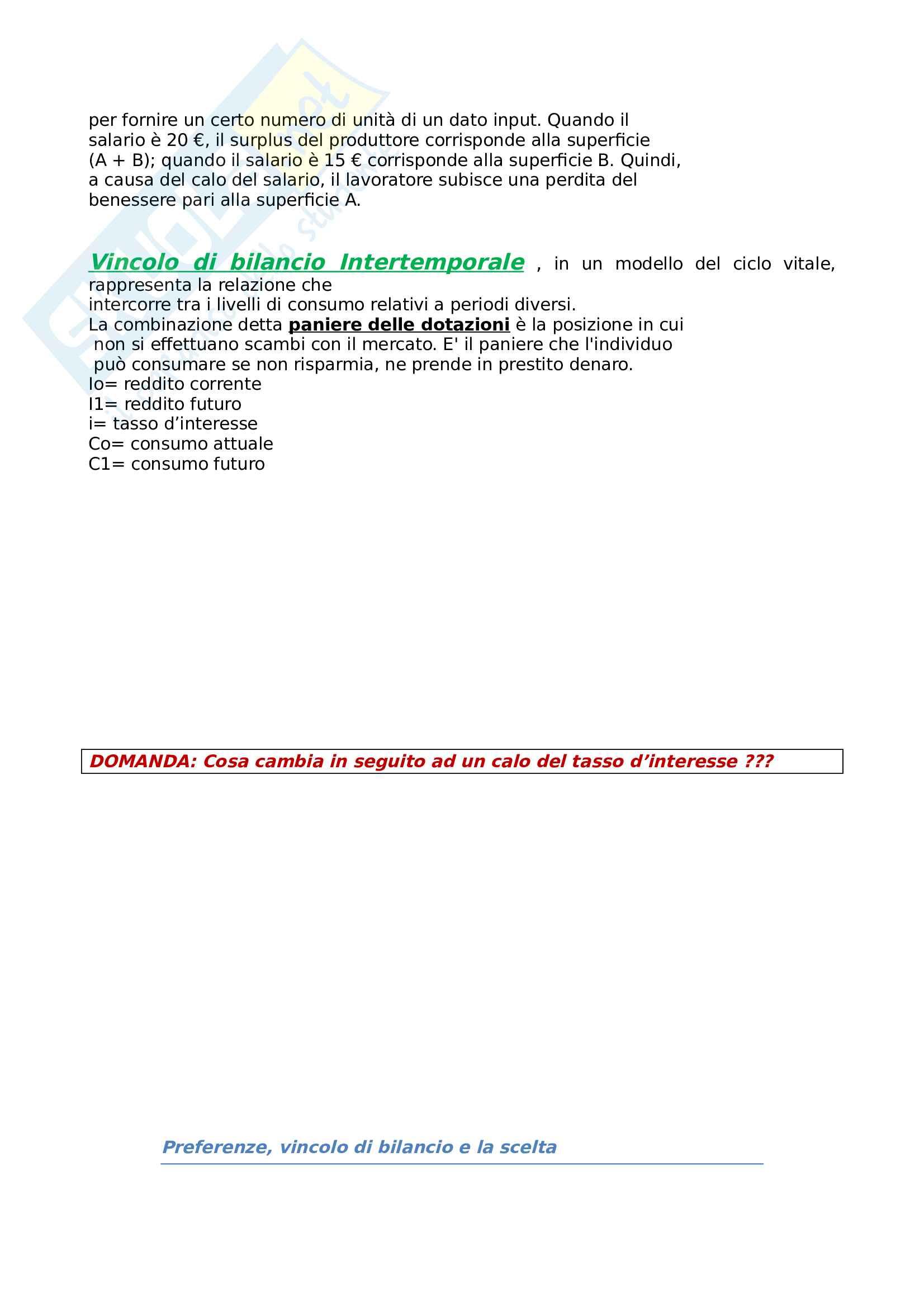Microeconomia, domande esame Pag. 2