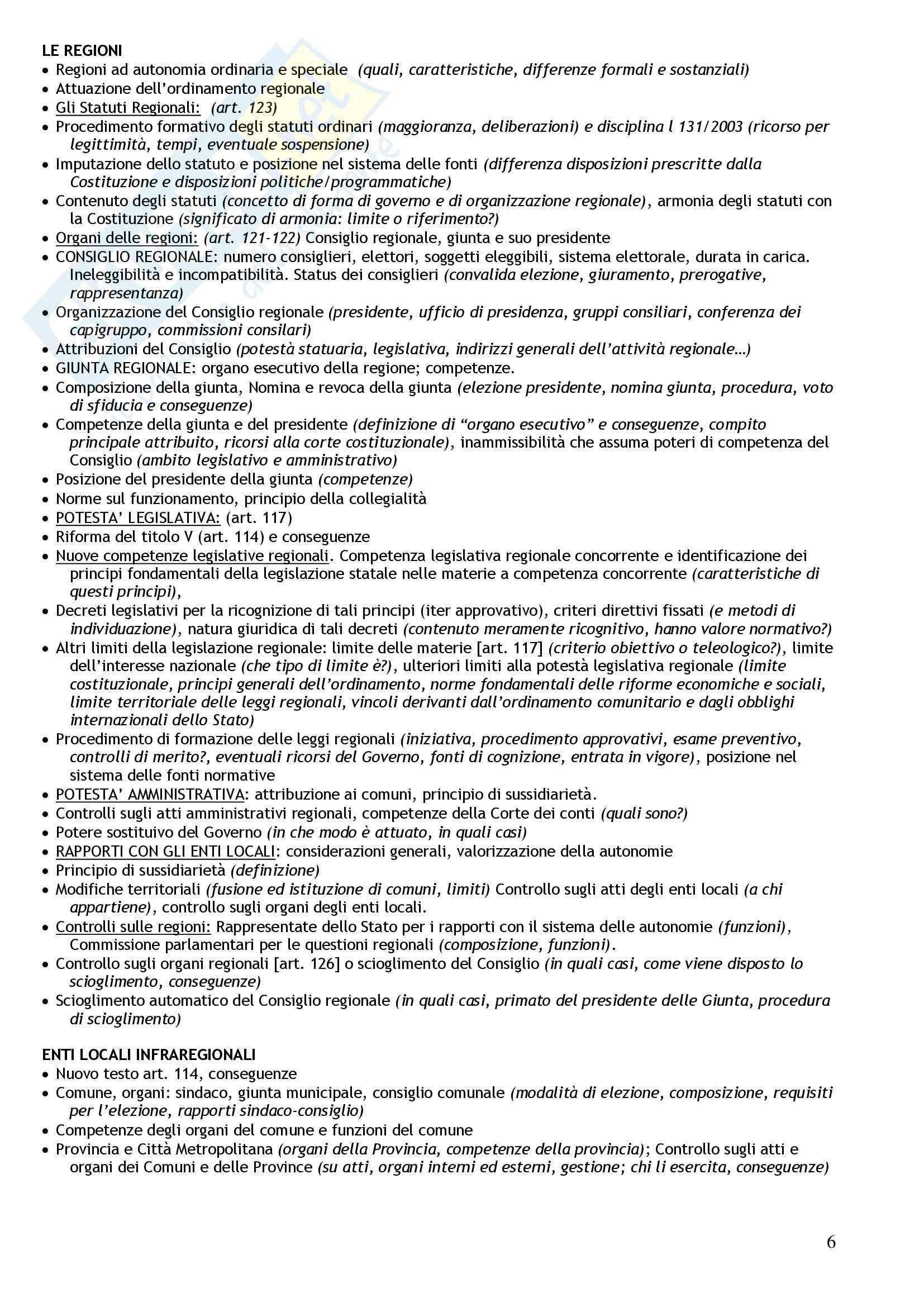 Diritto costituzionale - nozioni generali Pag. 6