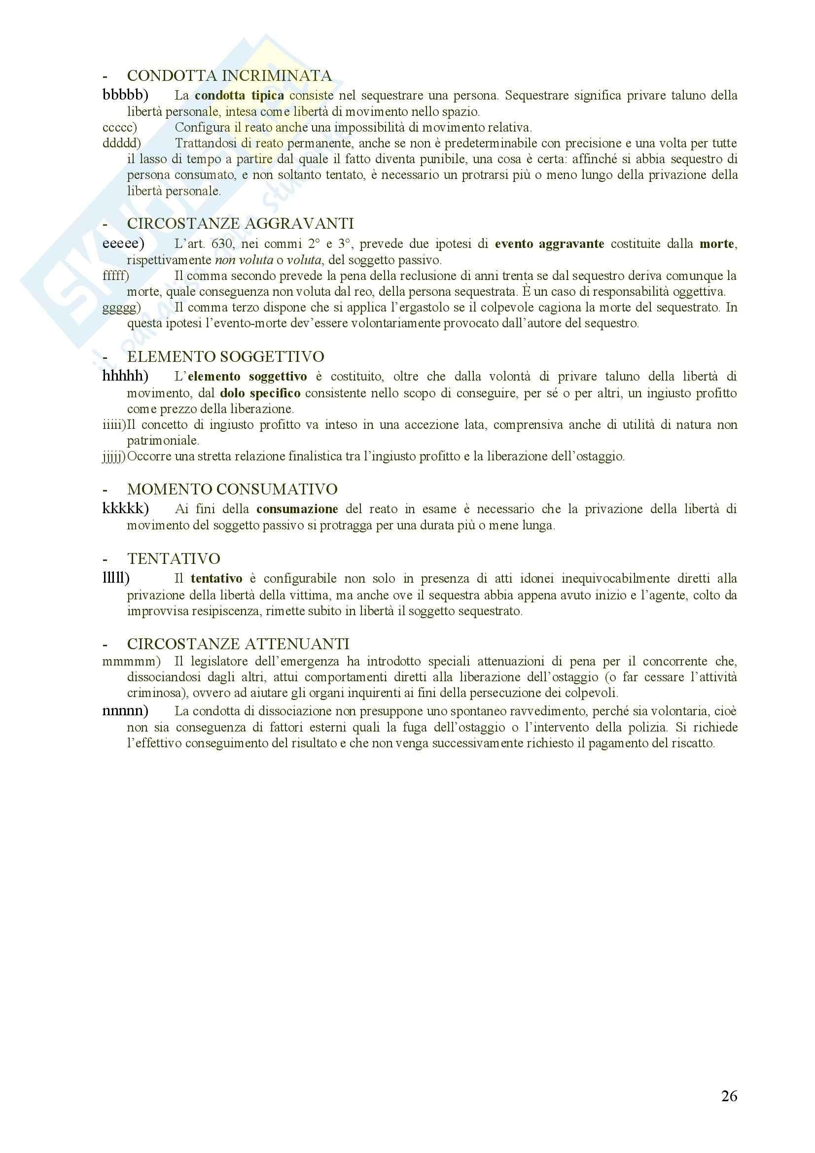 Diritto Penale 2 - reati contro il patrimonio - Riassunto esame, prof. Eusebi Pag. 26