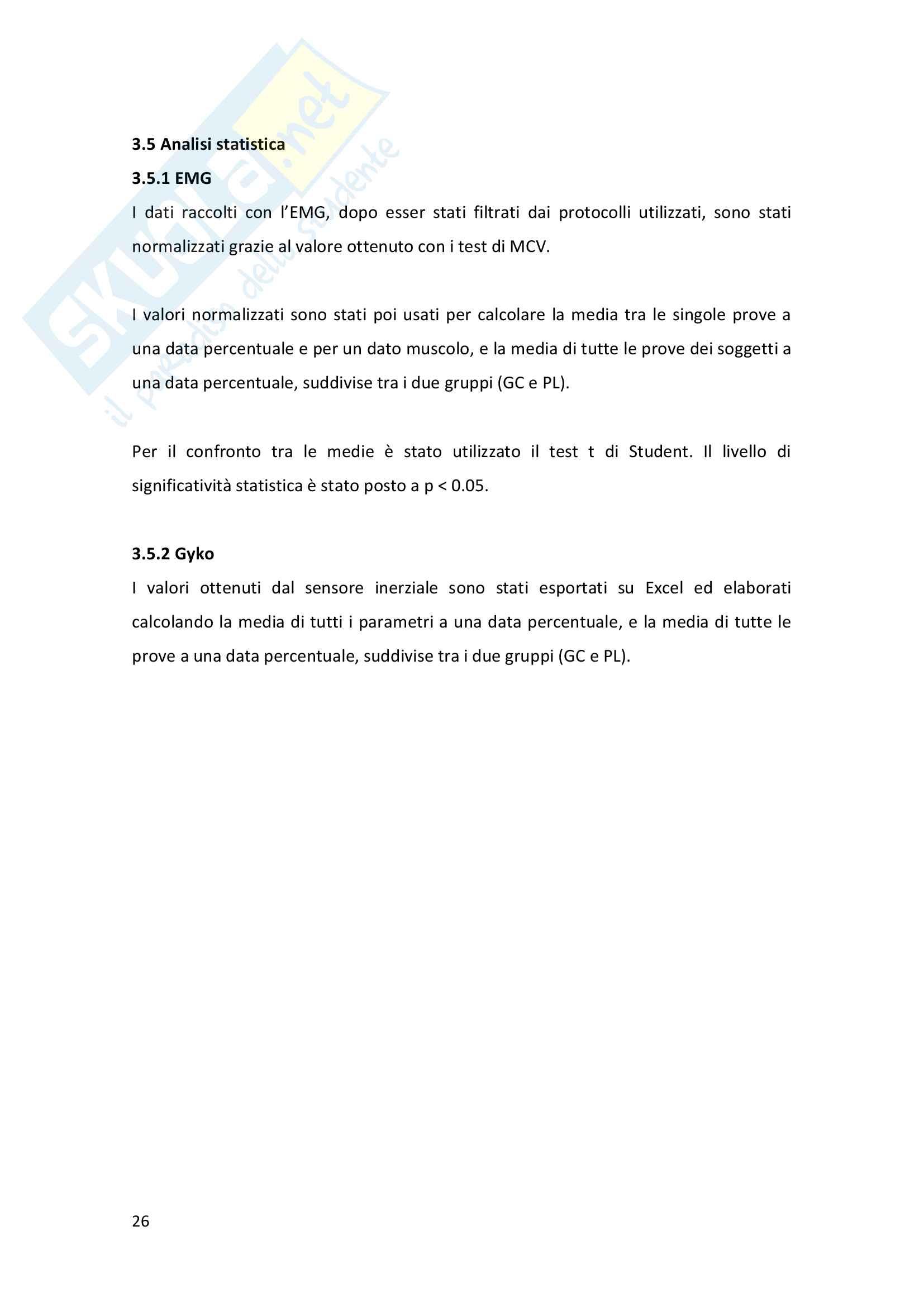 Analisi biomeccanica della panca piana in atleti di alto livello Pag. 26