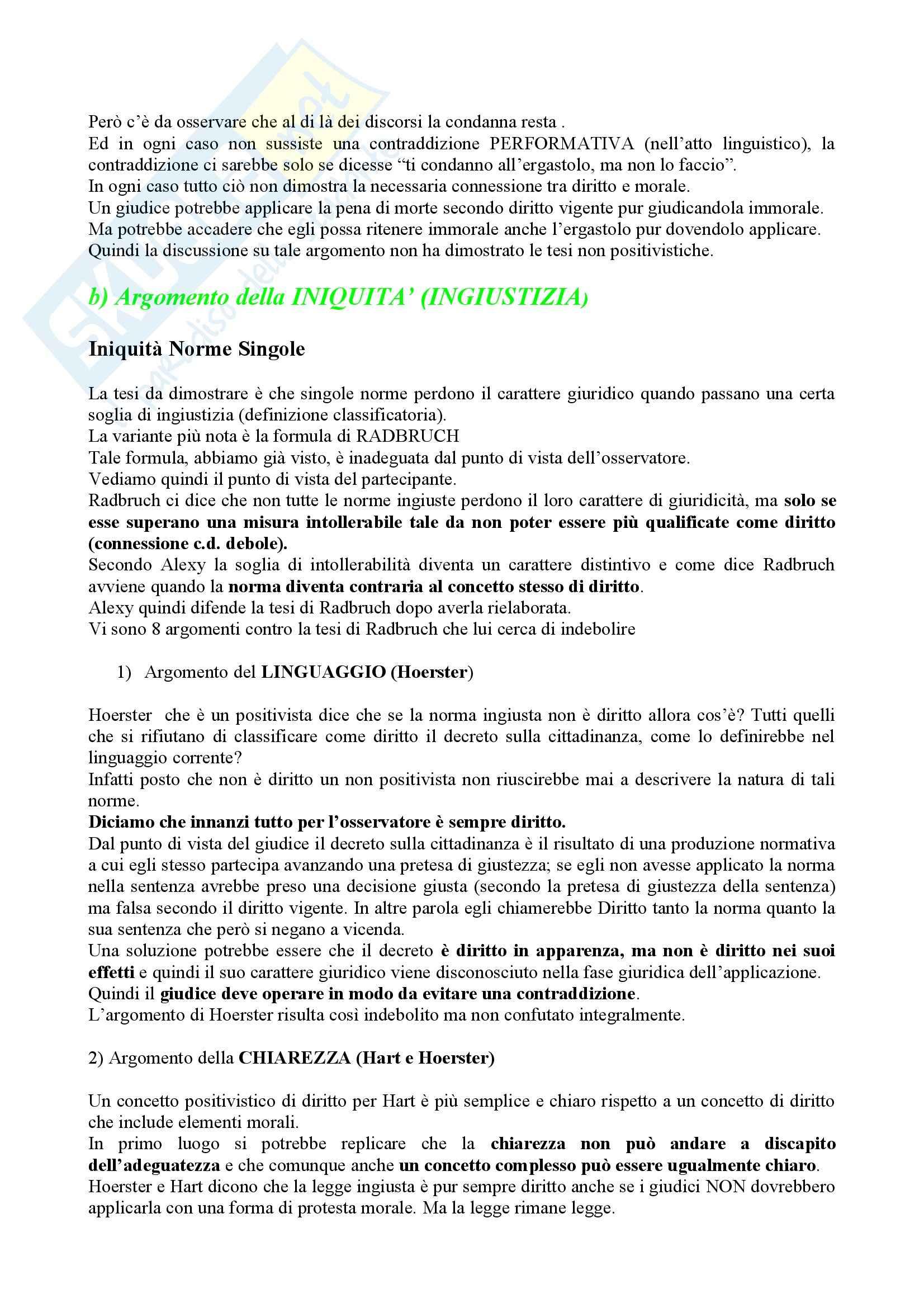 Riassunto esame Filosofia del diritto, prof. Campanale, libro consigliato Concetto e validità del diritto, Alexy Pag. 6