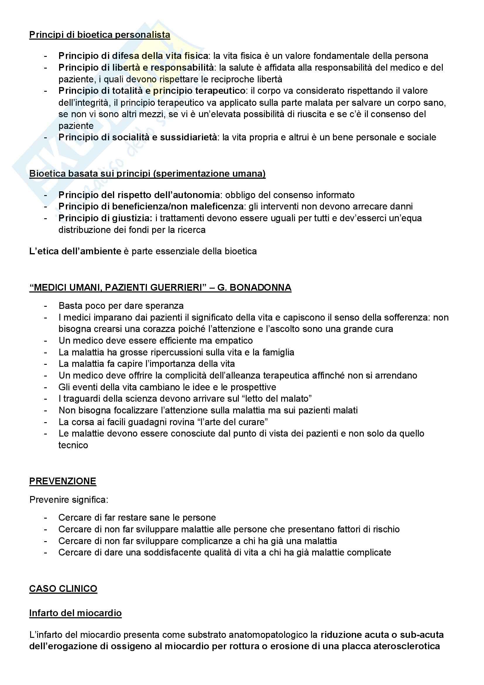 Introduzione alla medicina - Appunti Pag. 2