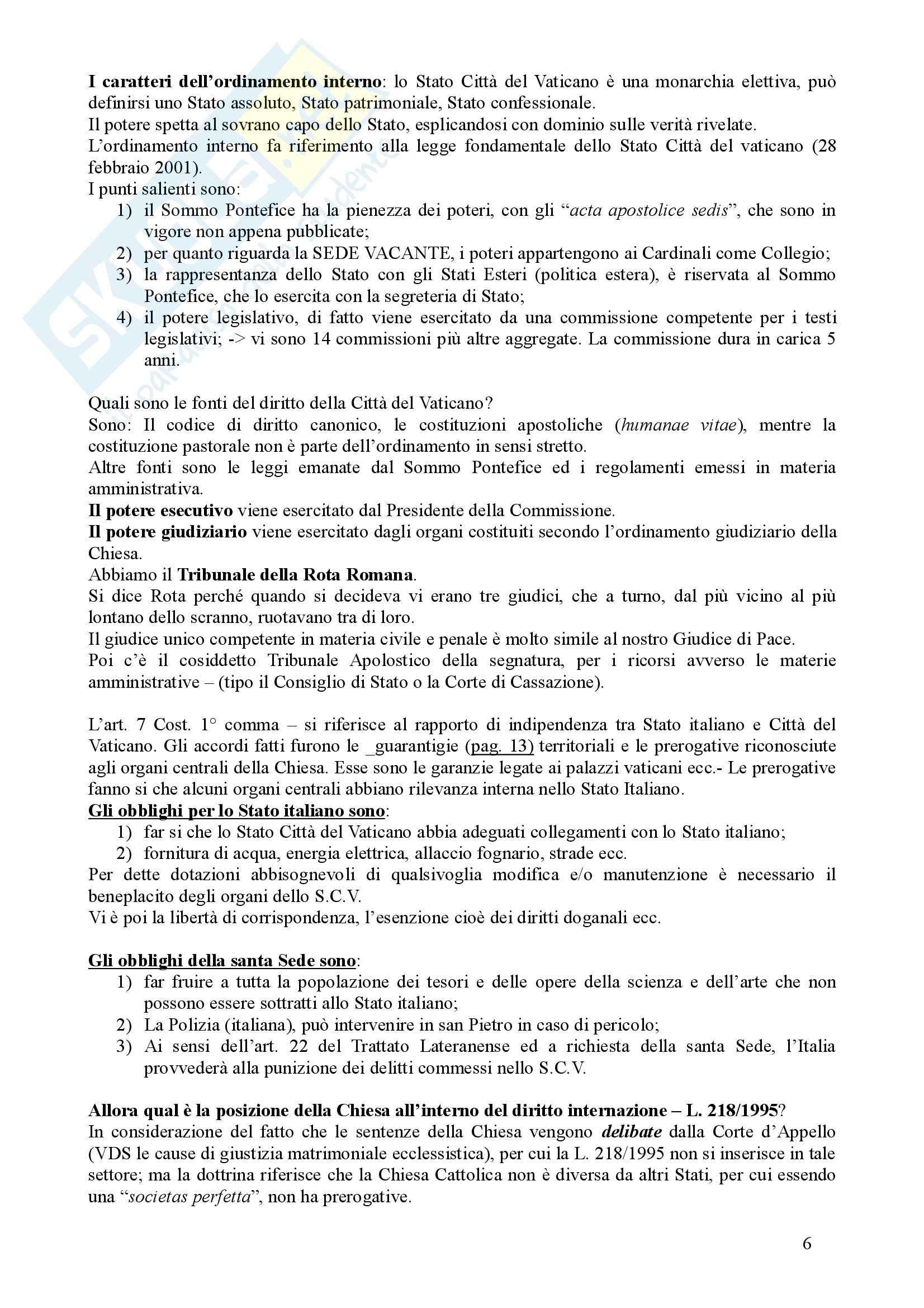 Diritto Ecclesiastico - Appunti Pag. 6