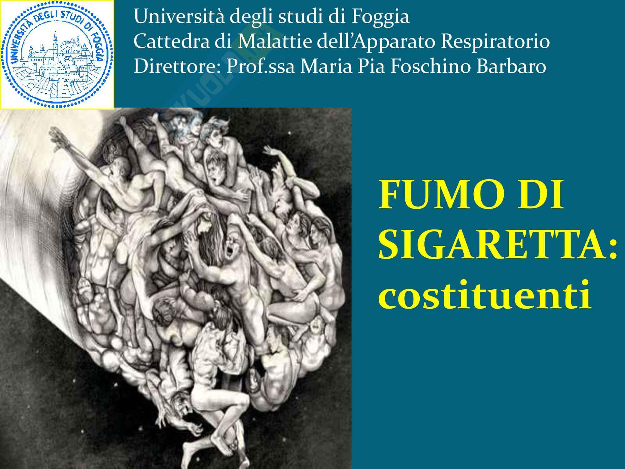 Tabagismo, Fumo di Sigaretta