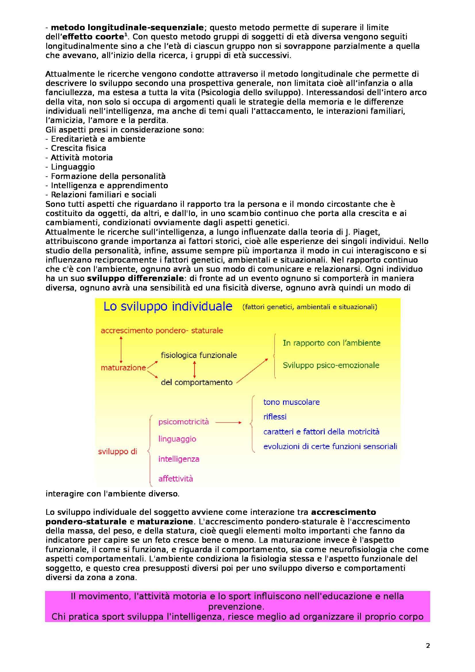 Teoria e metodologia del movimento umano - Appunti Pag. 2