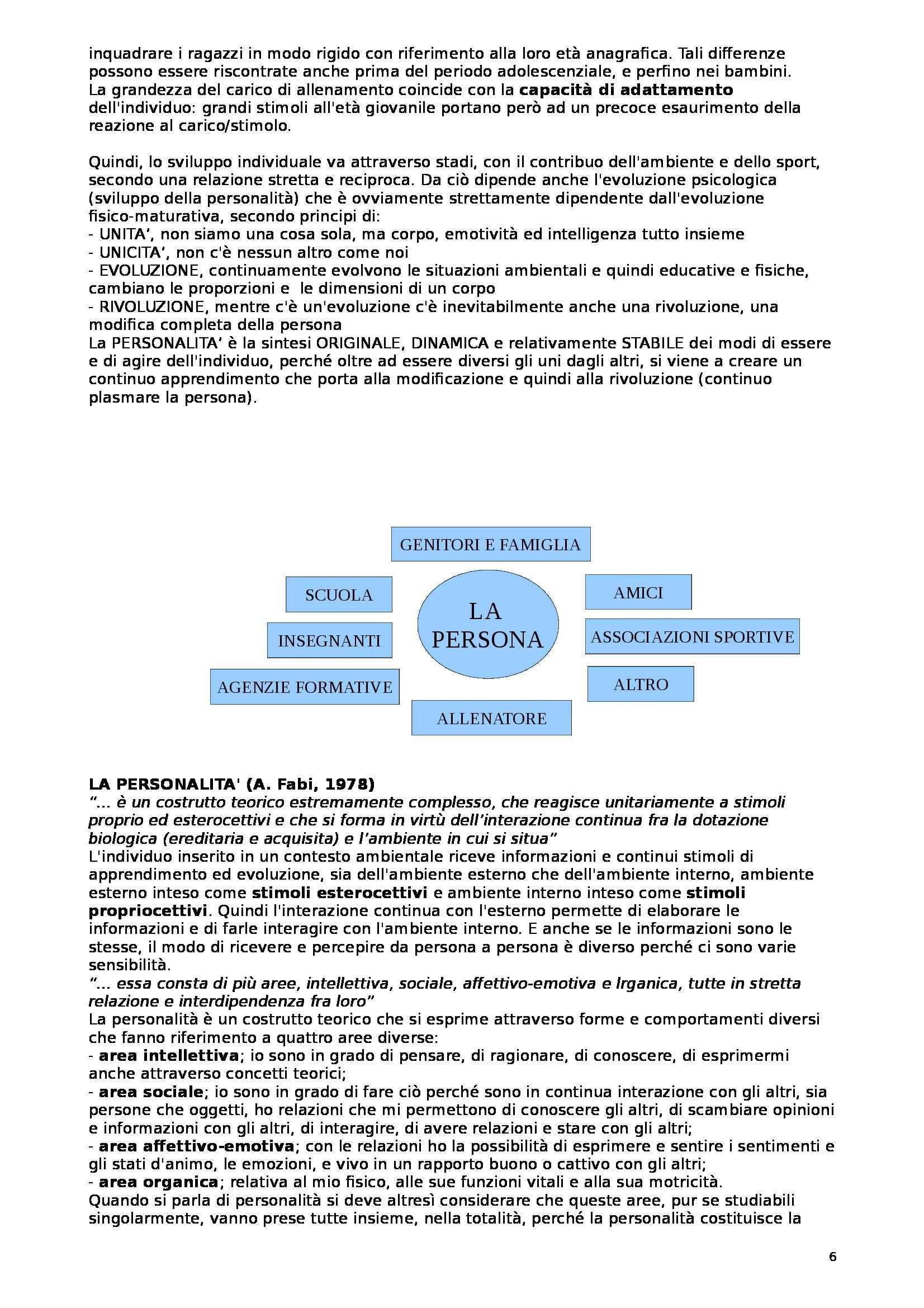 Teoria e metodologia del movimento umano - Appunti Pag. 6