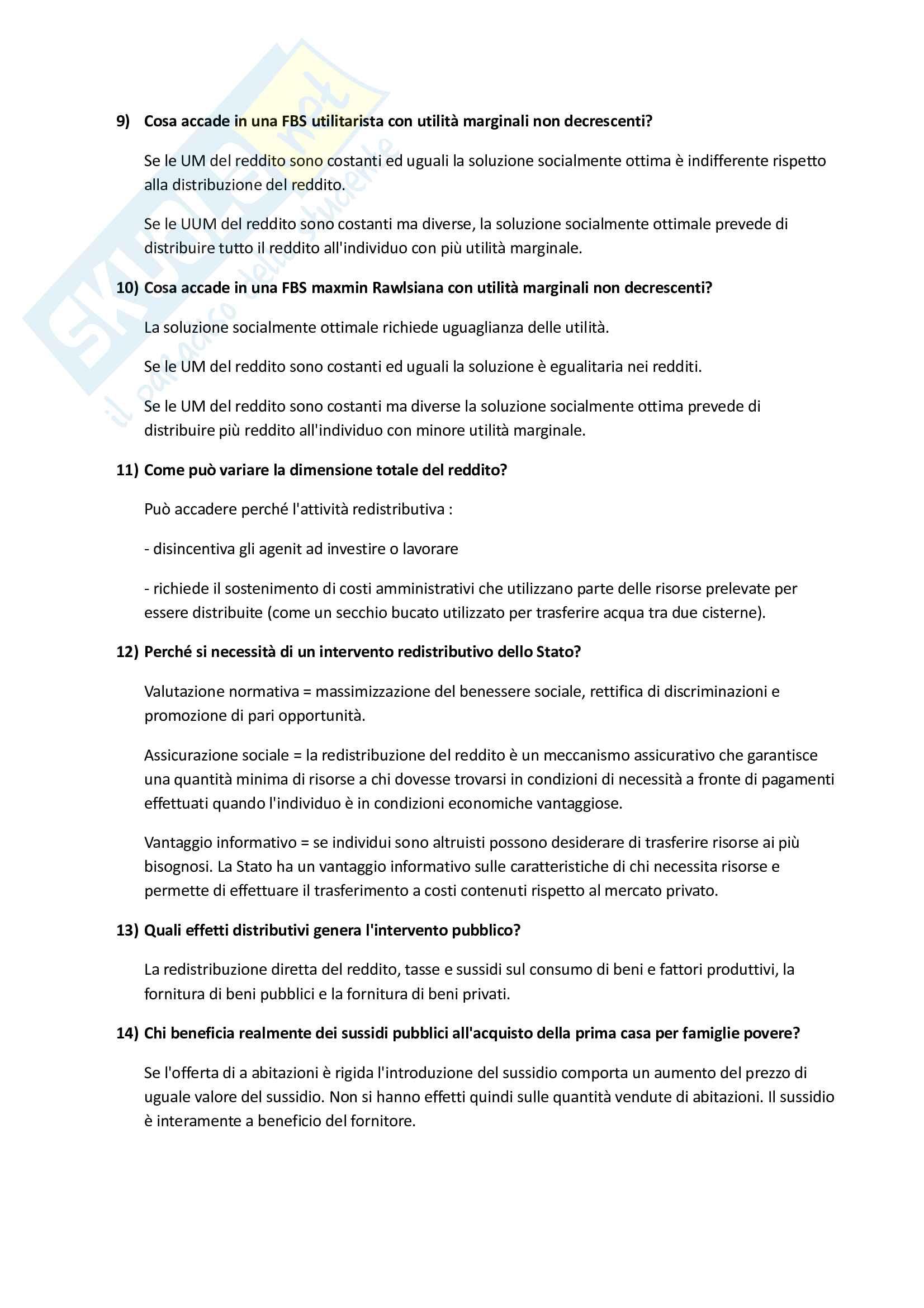 Scienze delle Finanze - Domande Pag. 21