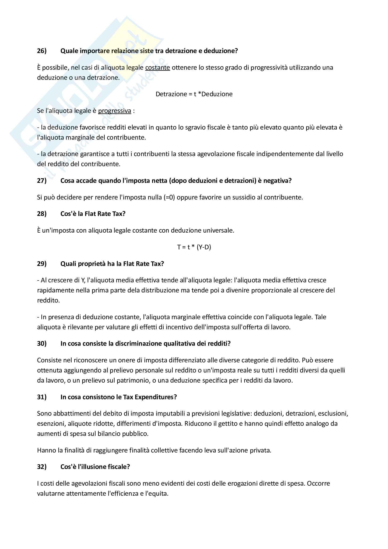 Scienze delle Finanze - Domande Pag. 36