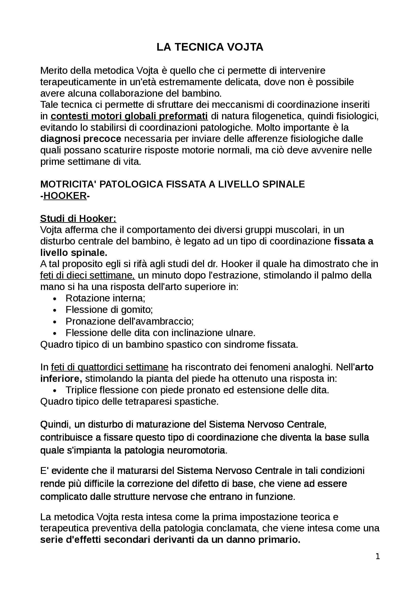 appunto D. Piazzini Tecniche fisioterapiche 4