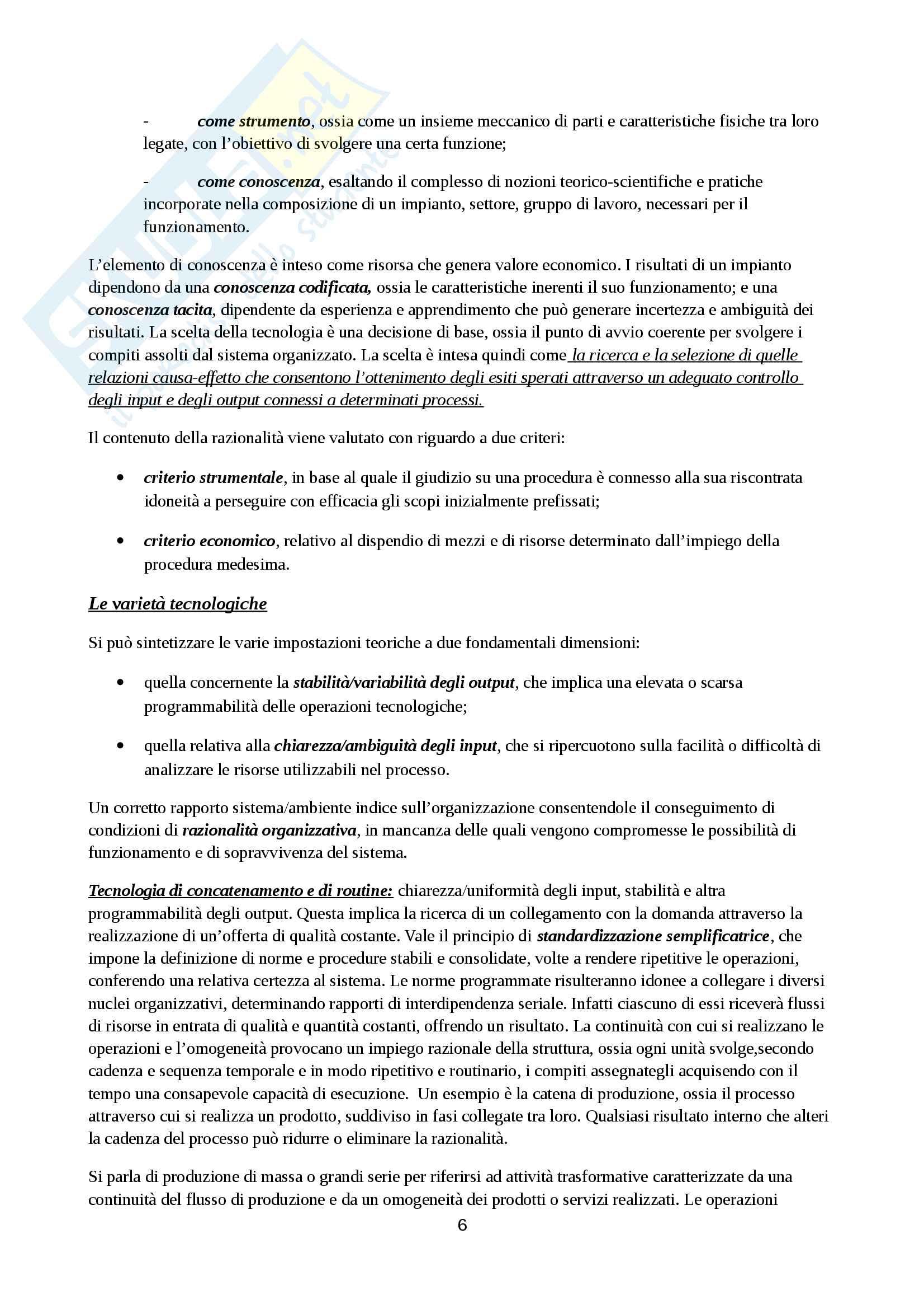 Riassunto esame Organizzazione Aziendale, prof. Cavaliere, libro consigliato Elementi di progettazione organizzativa e di programmazione del personale, D'Anna Pag. 6