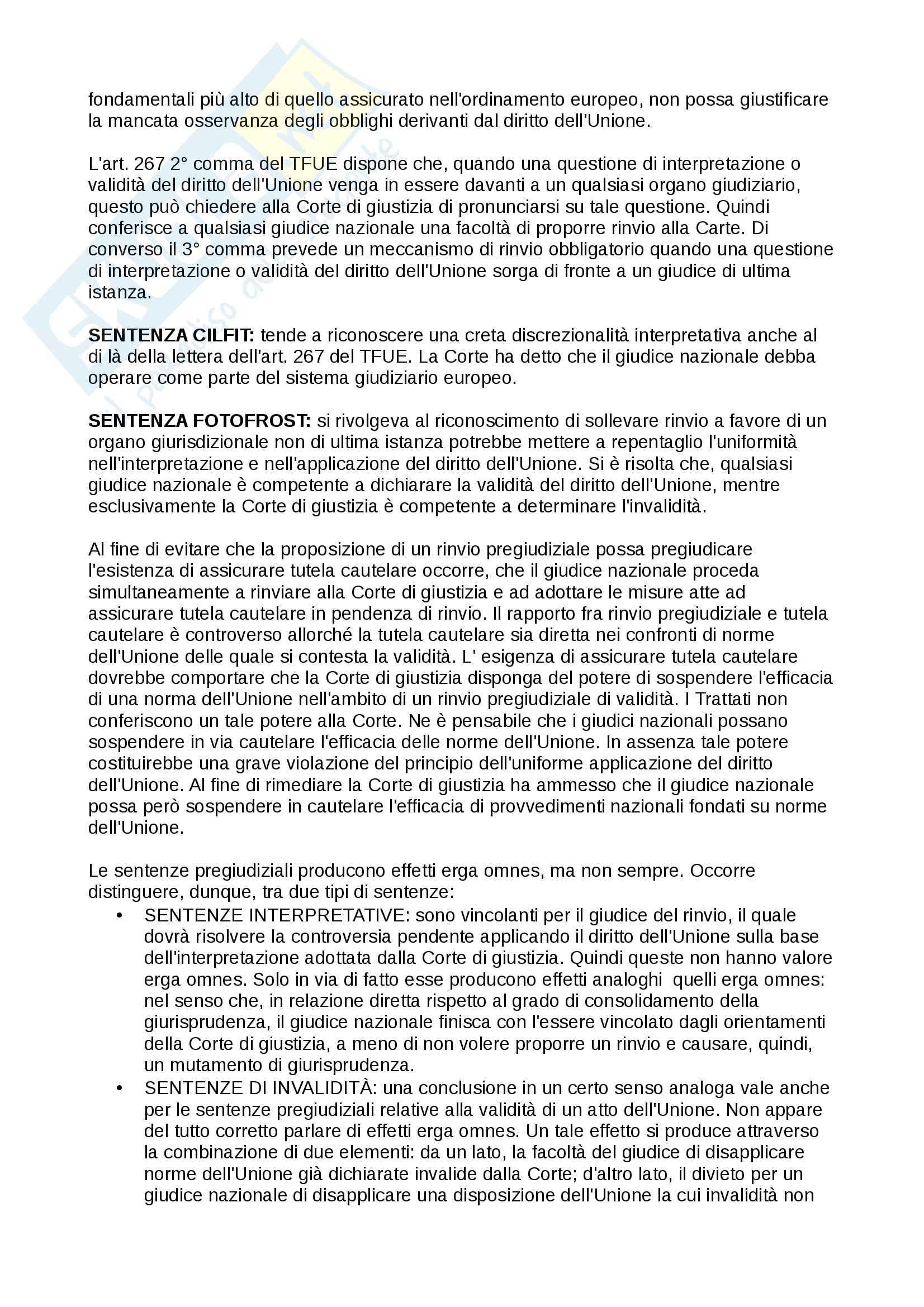 Lezioni, Diritto dell' Unione europea Pag. 11