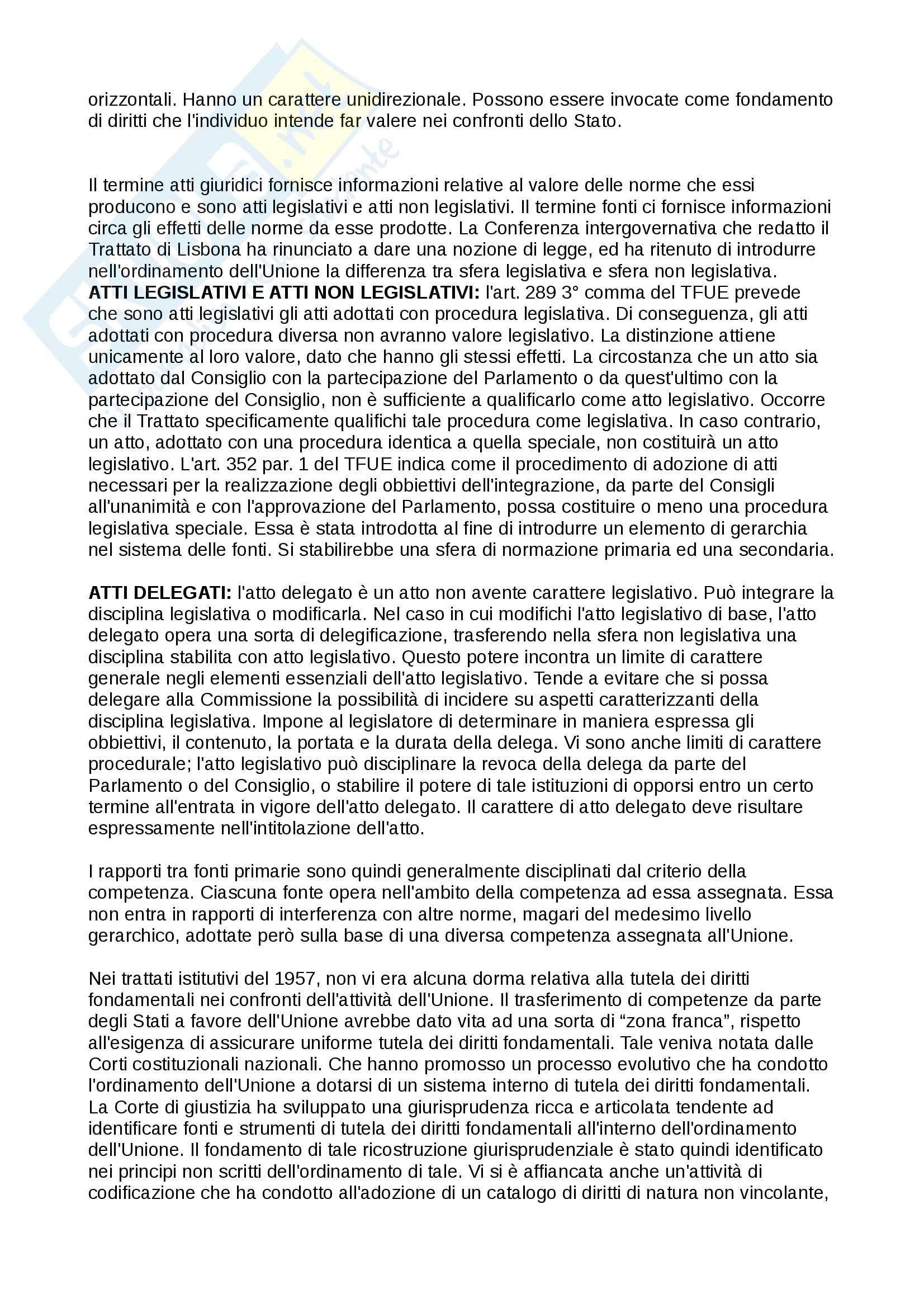 Lezioni, Diritto dell' Unione europea Pag. 6