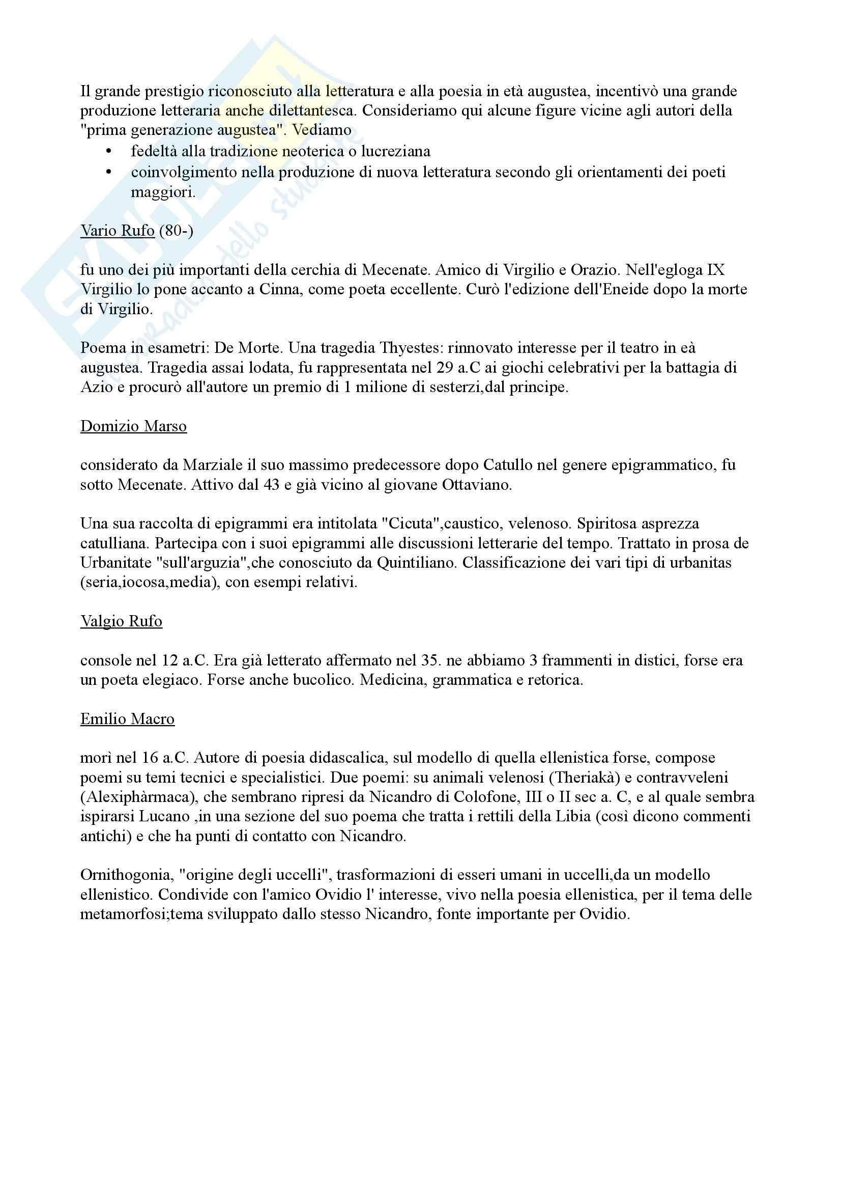 appunto R. Caldini Letteratura latina