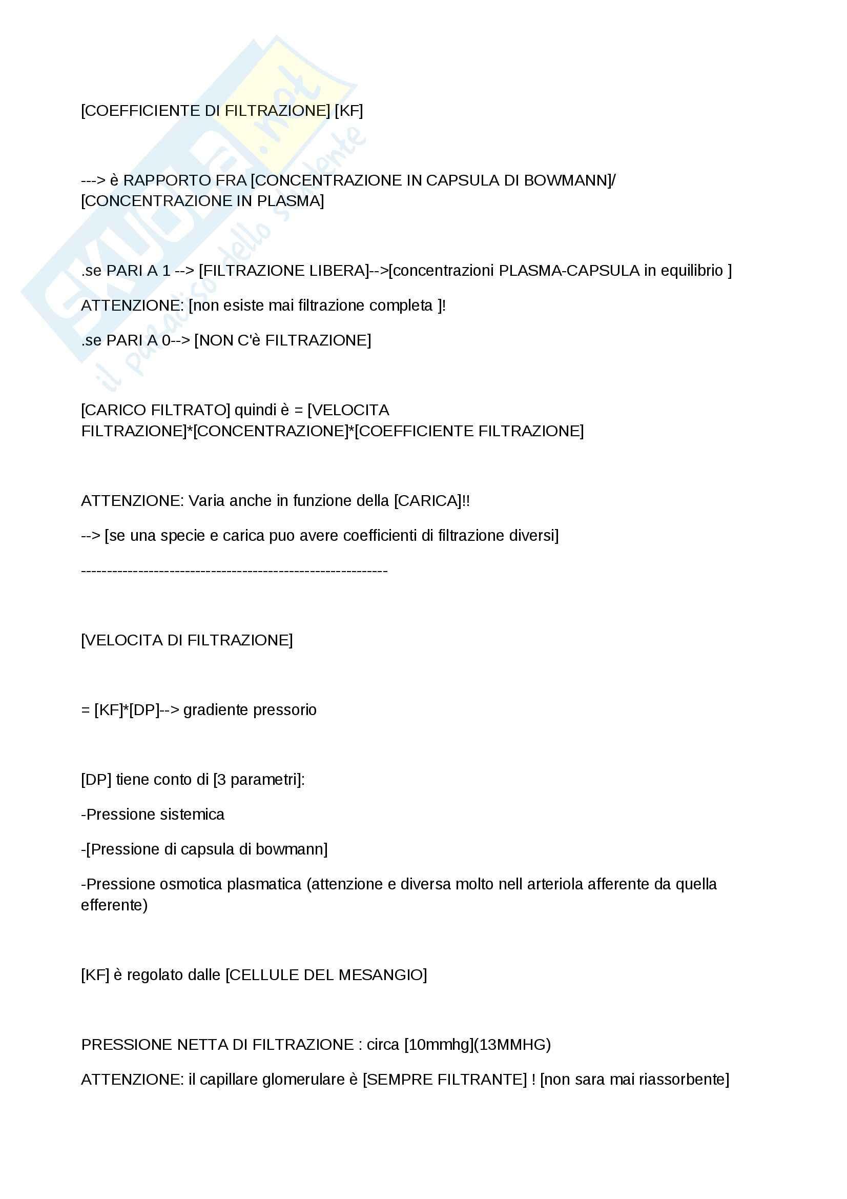Basi fisiche e fisiologiche dell'organismo umano e metodologia statistica - fisiologia renale Pag. 6