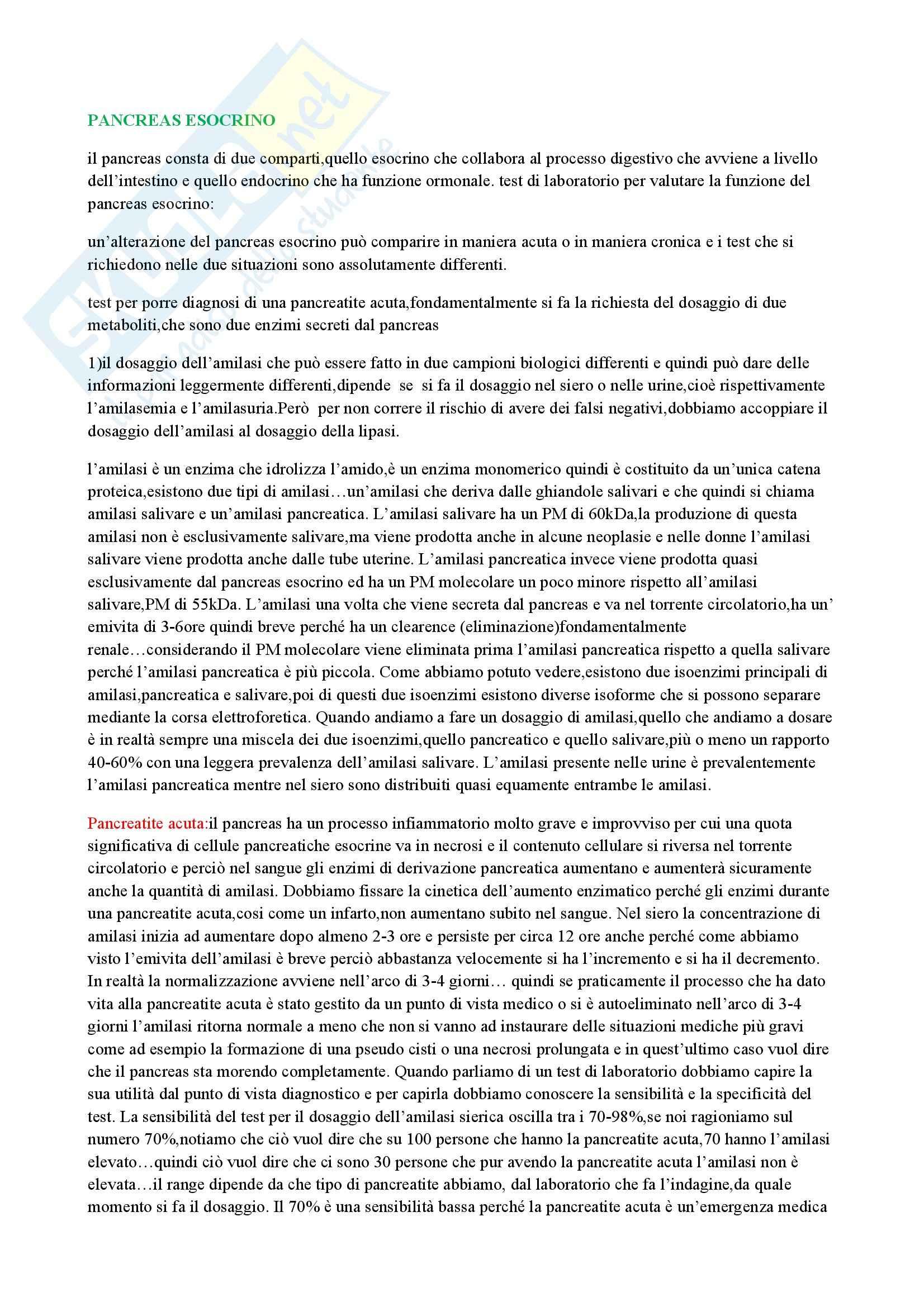 appunto S. Esposito Biochimica clinica