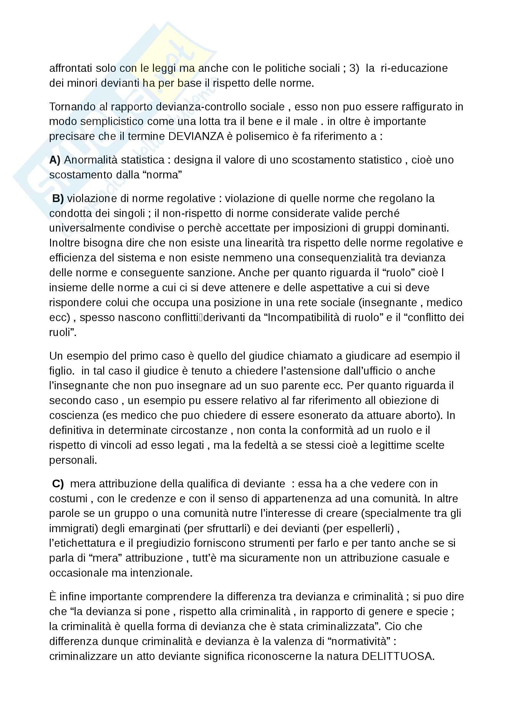Riassunto esame Pedagogia della devianza, prof. Striano, libro consigliato Manuale di pedagogia della marginalità, Izzo, Mannucci Pag. 16