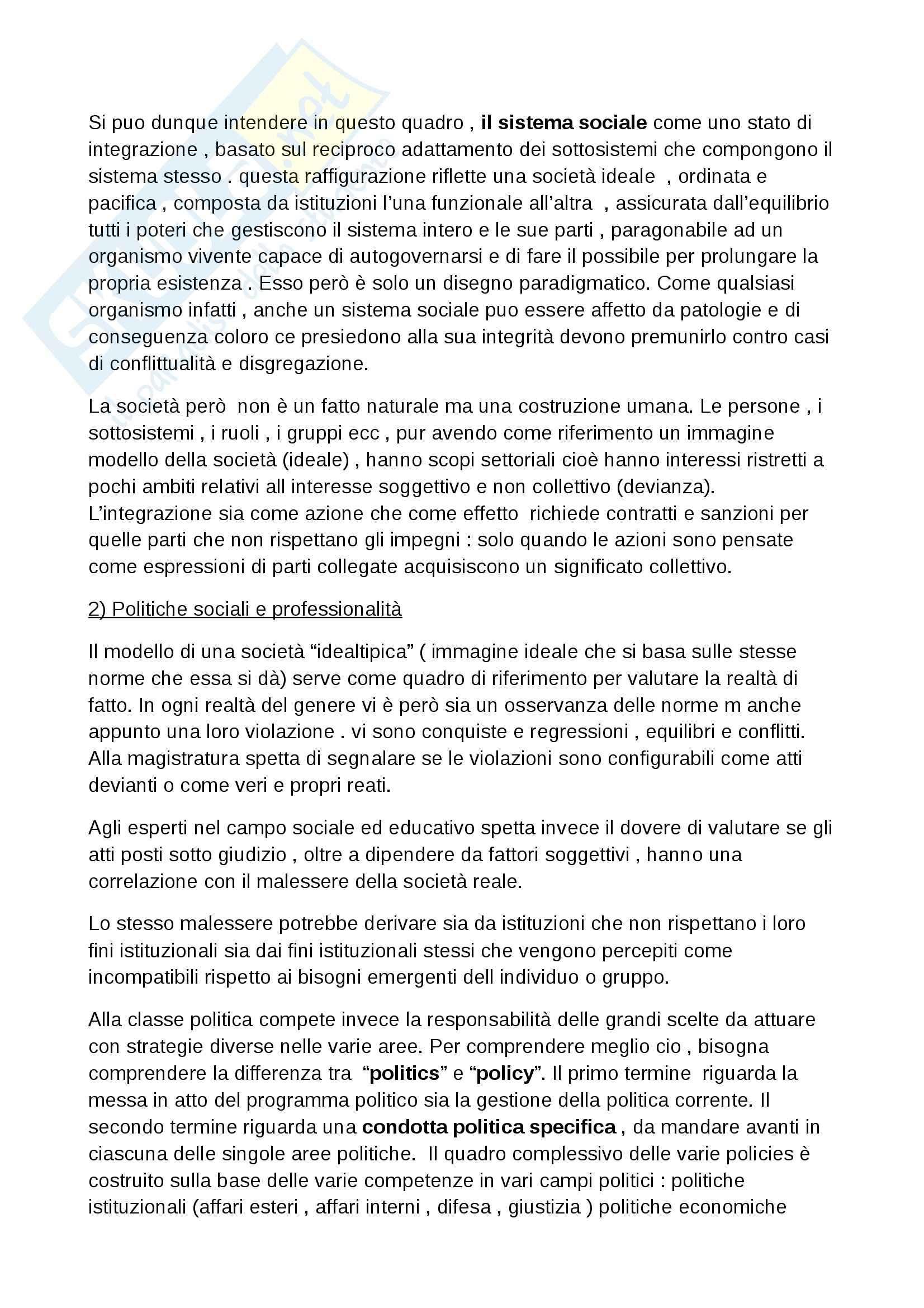 Riassunto esame Pedagogia della devianza, prof. Striano, libro consigliato Manuale di pedagogia della marginalità, Izzo, Mannucci Pag. 21
