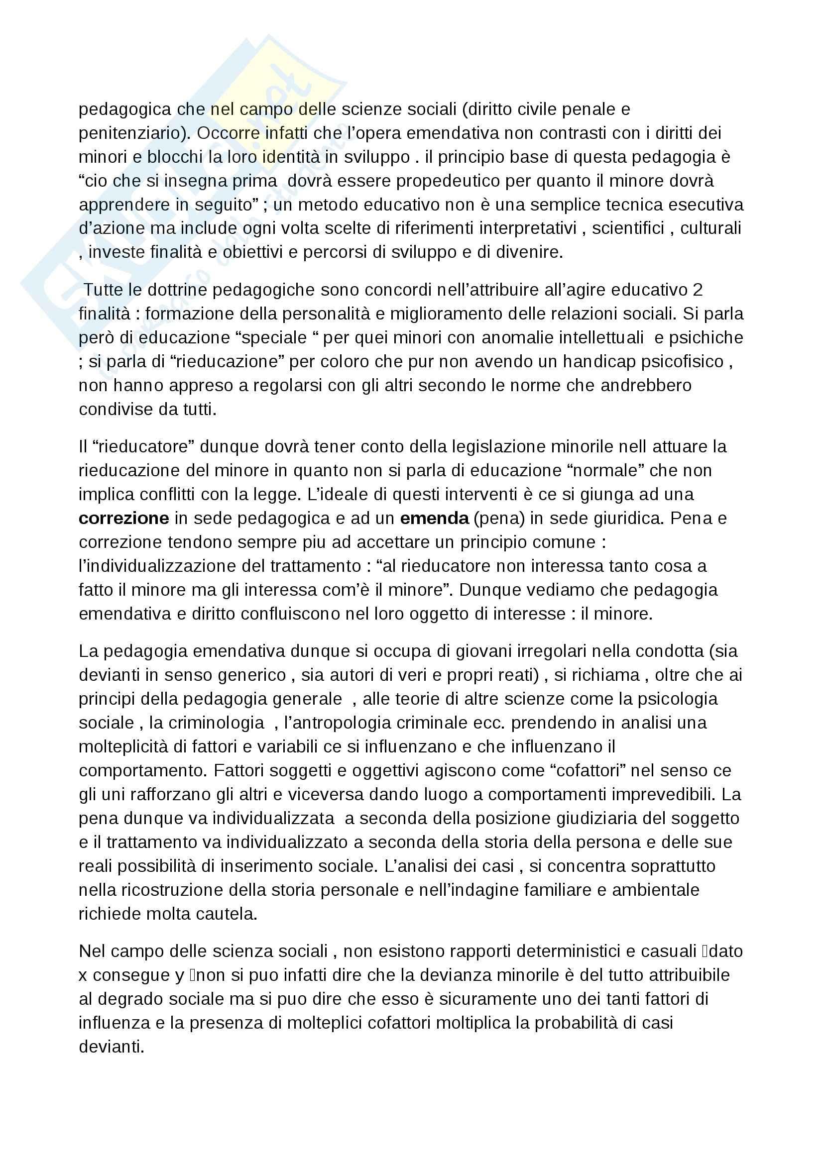 Riassunto esame Pedagogia della devianza, prof. Striano, libro consigliato Manuale di pedagogia della marginalità, Izzo, Mannucci Pag. 26